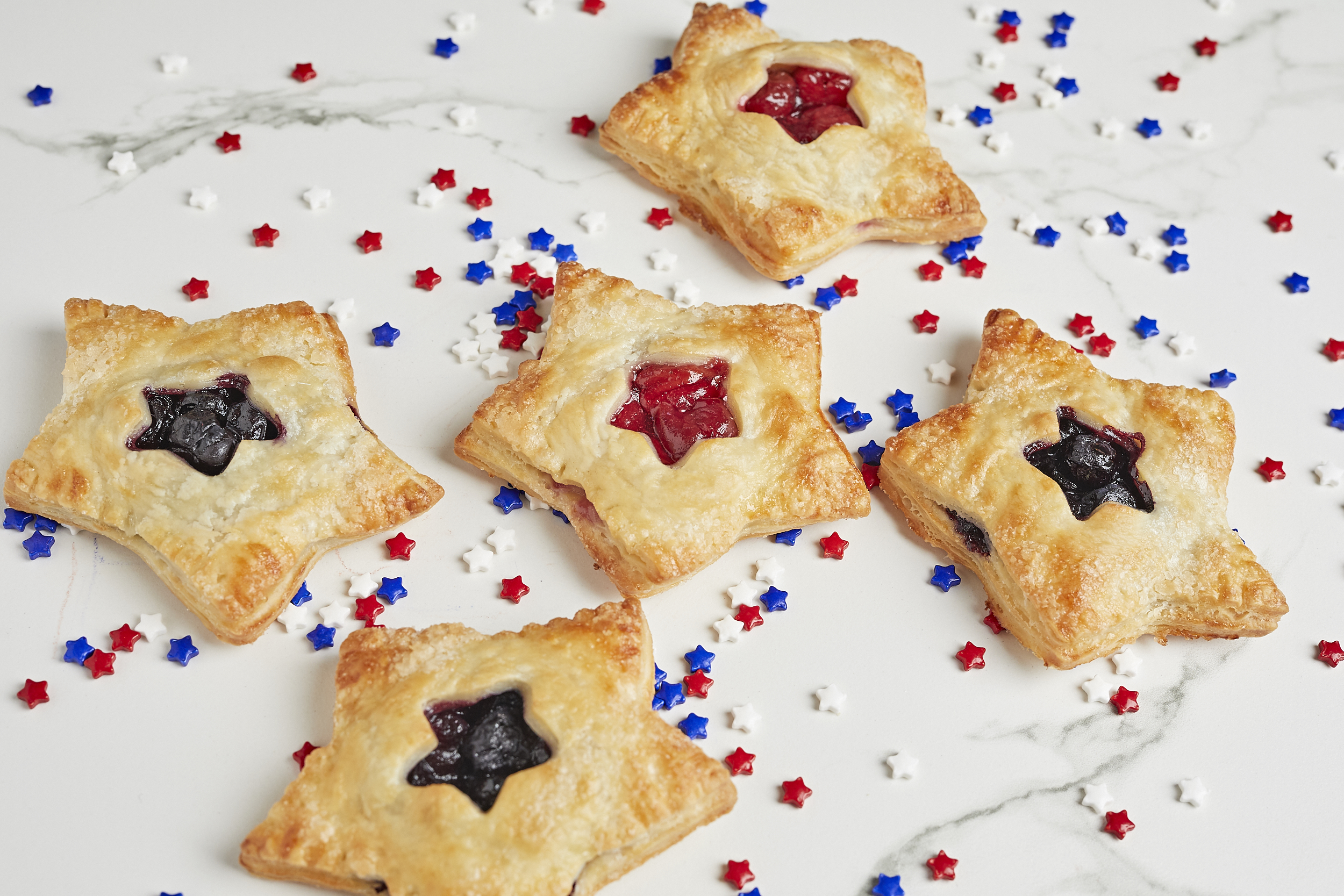 Fourth of July-themed hand pies from Tiny Pies