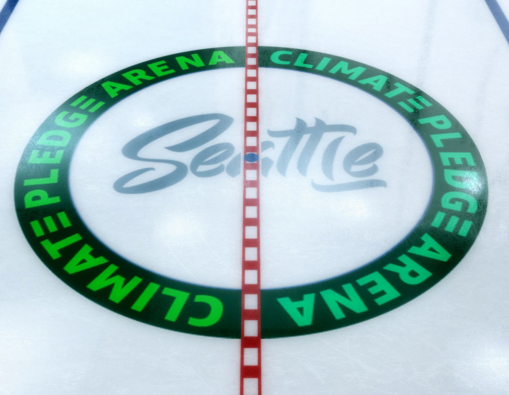 Center ice at the Climate Pledge Arena