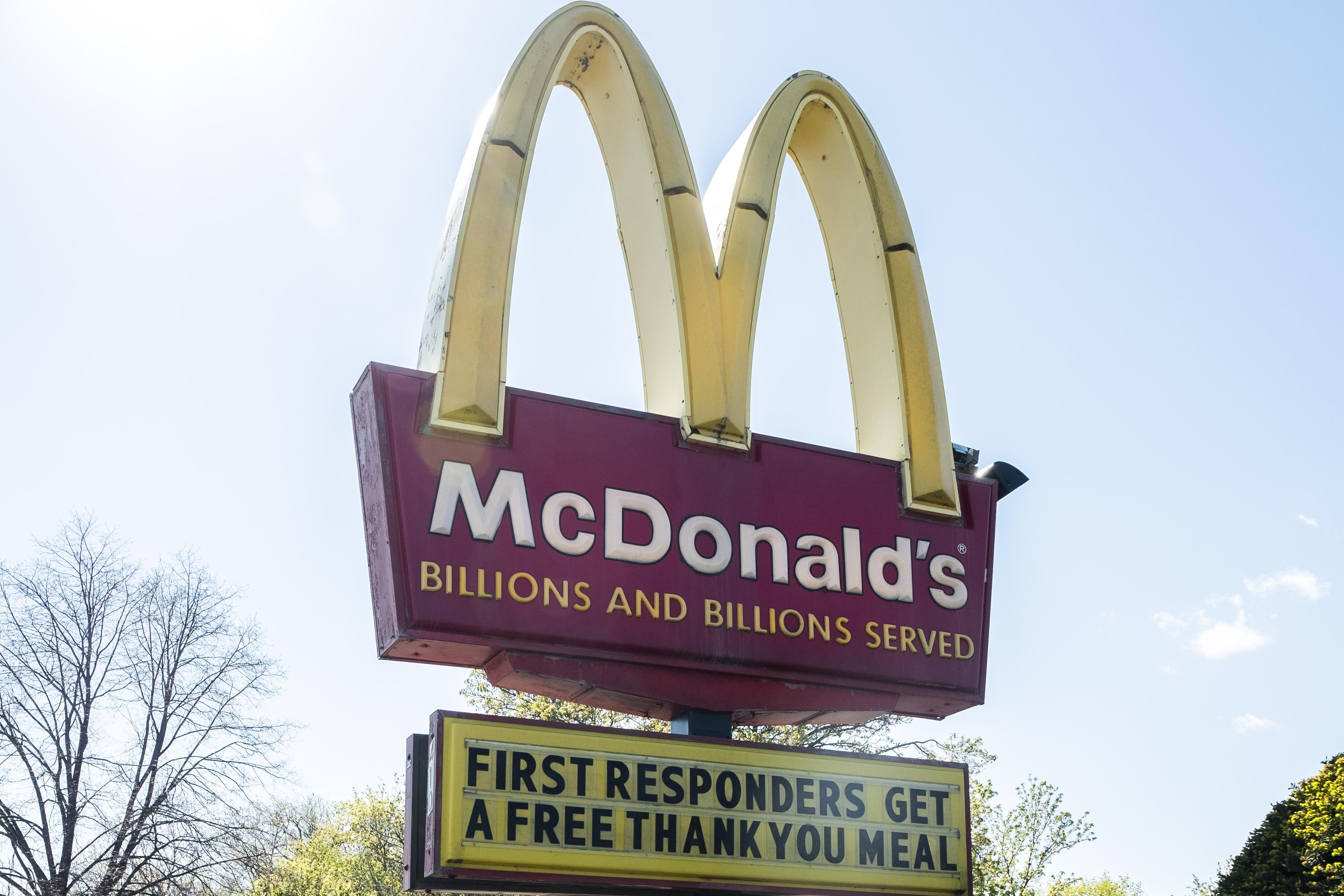 McDonald's sign.