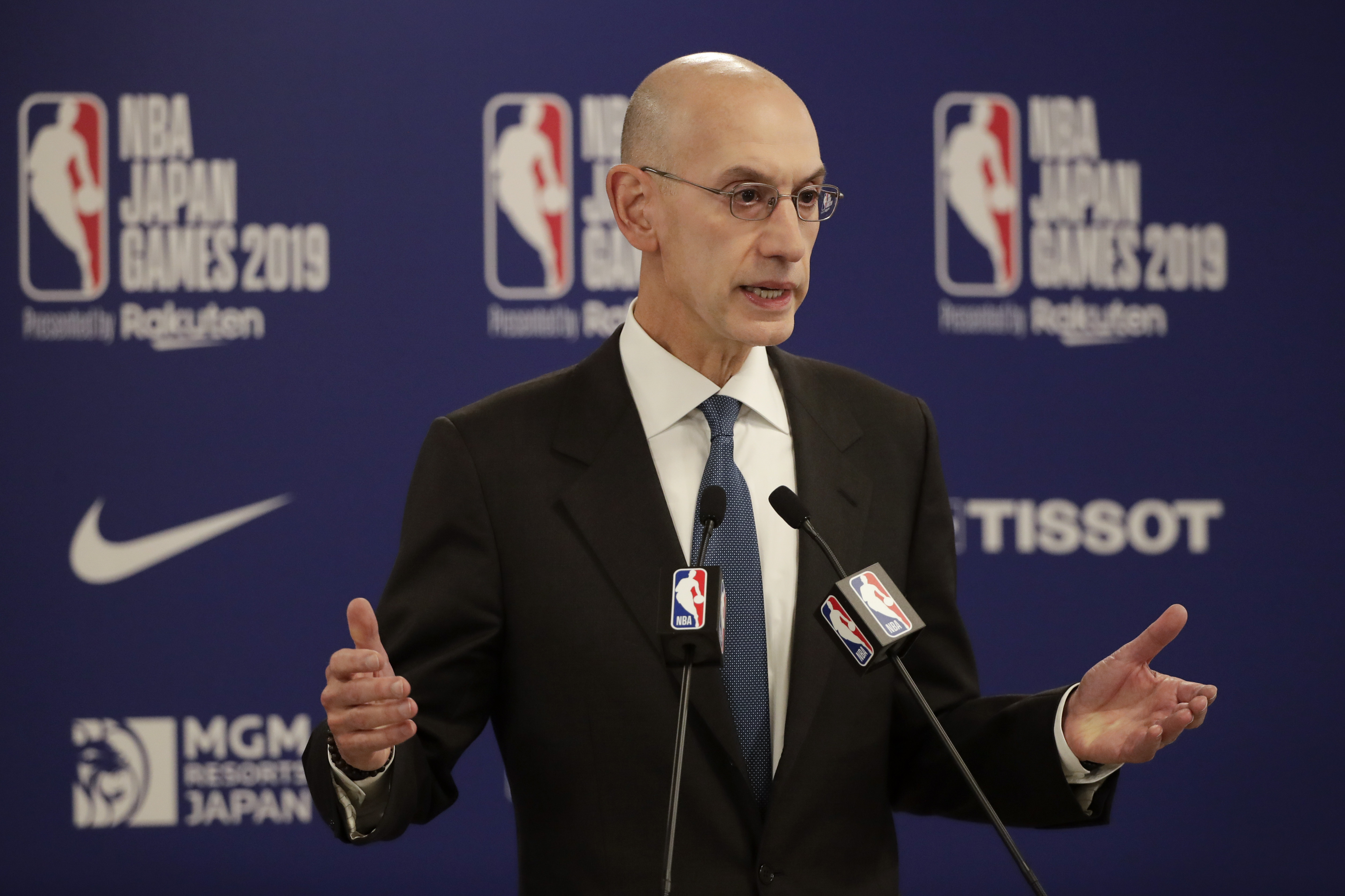 """""""We have worked together with the Players Association to establish a restart plan that prioritizes health and safety, preserves competitive fairness and provides a platform to address social justice issues,"""" NBA Commissioner Adam Silver said."""