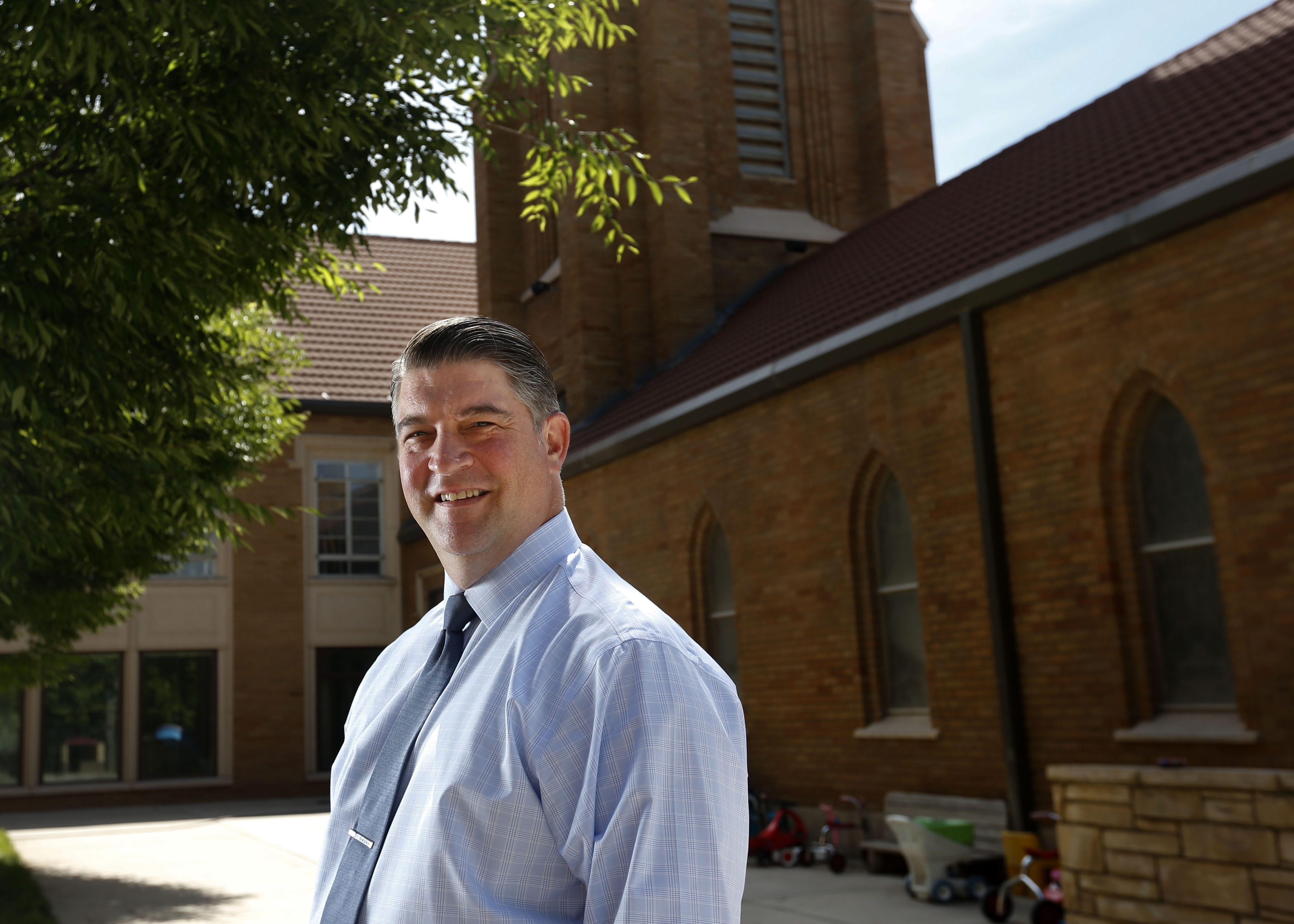The Rev. Curtis Price is pictured in front of the First Baptist Church in Salt Lake City on Wednesday, June 24, 2020.