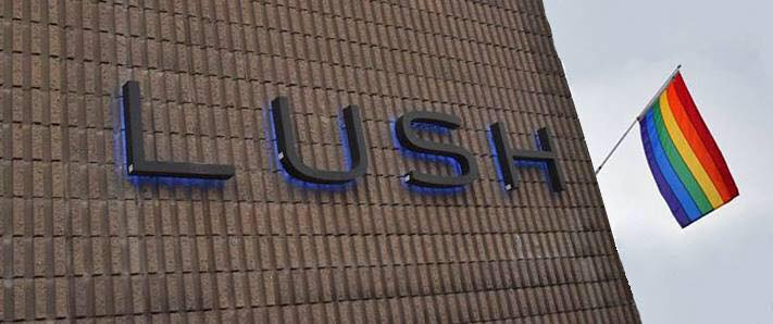 The exterior of Lush