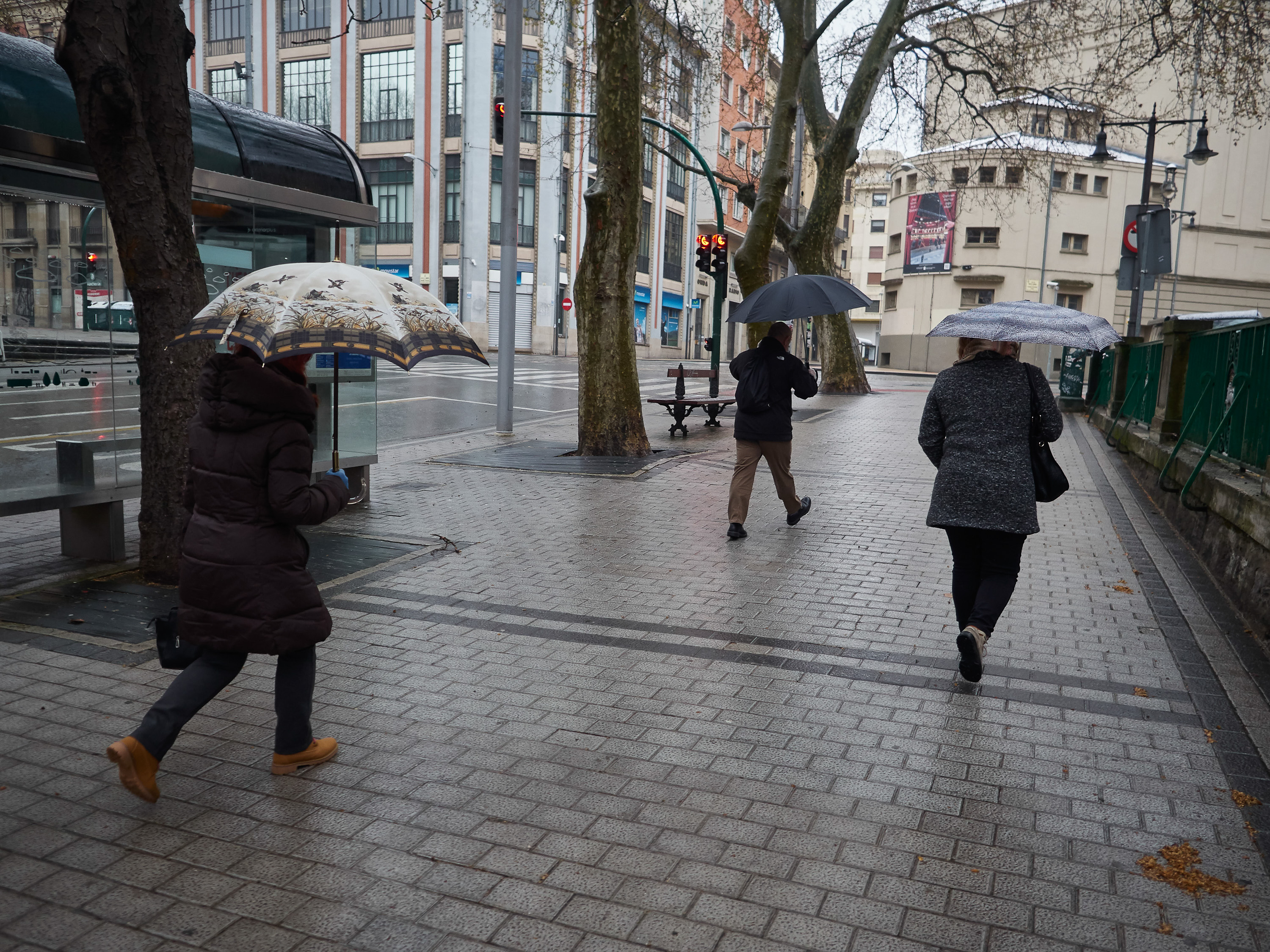 Radical Drop In Temperatures And Winter Weather In Pamplona