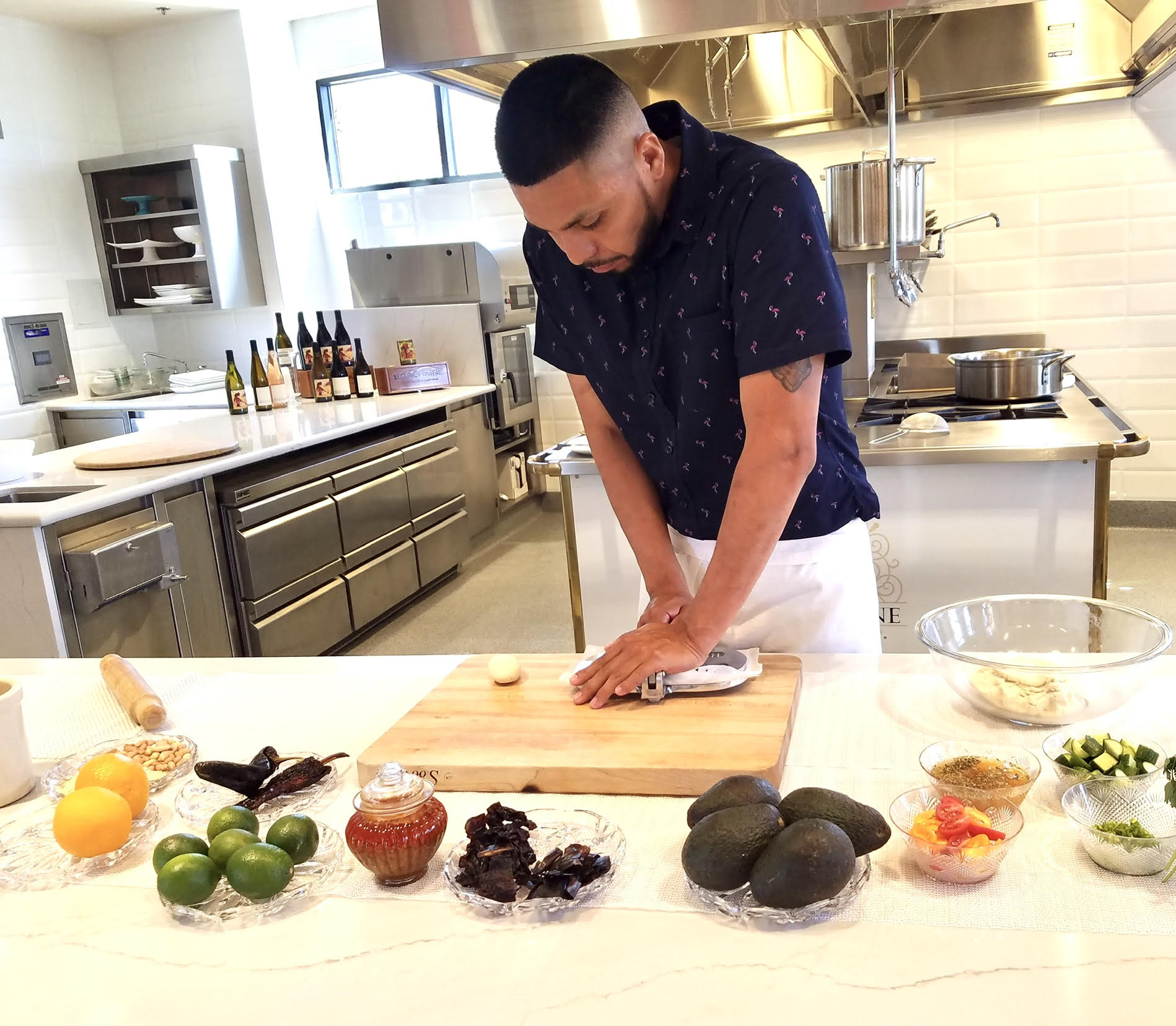 Chef Rogelio Garcia in the kitchen
