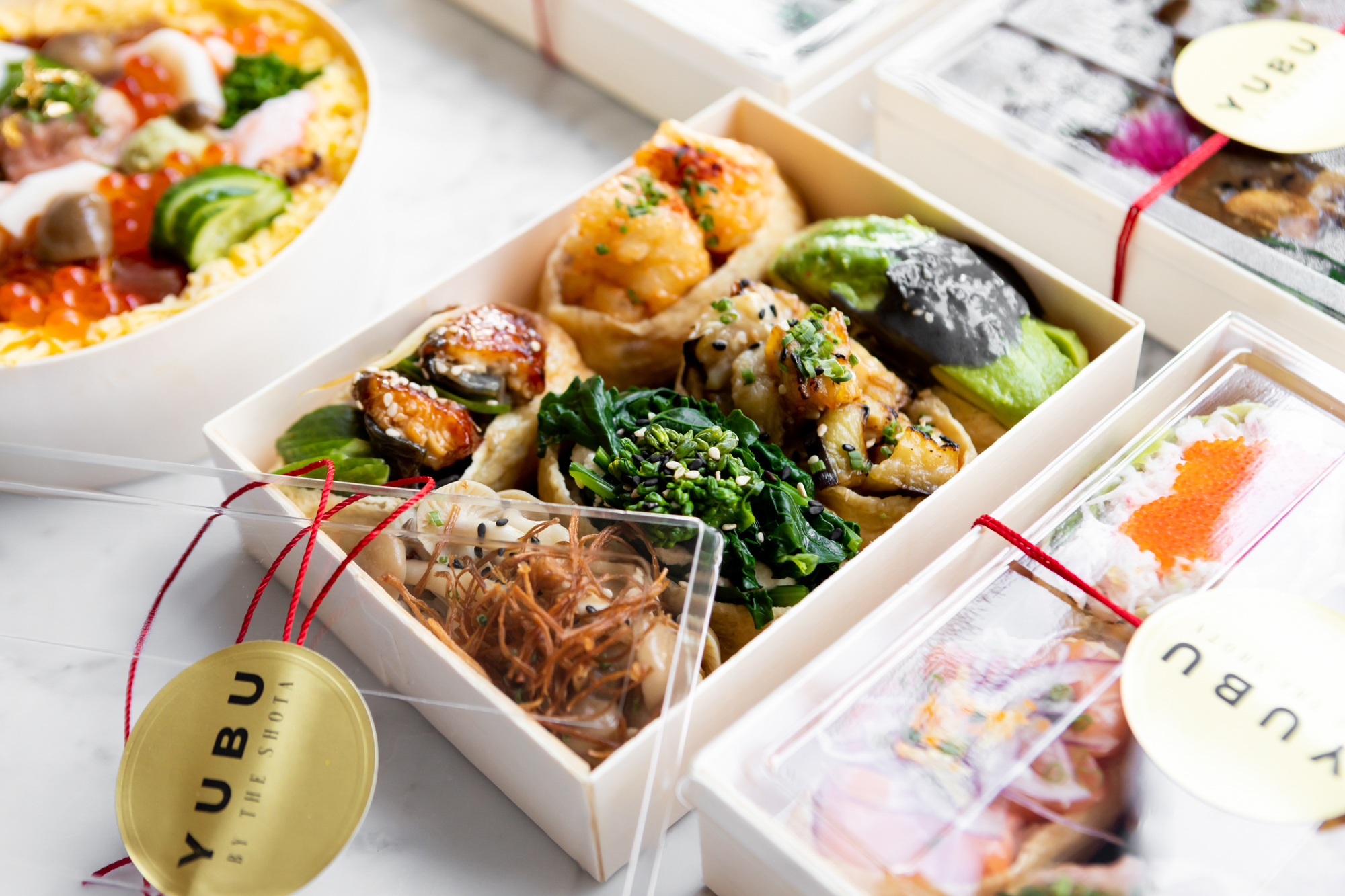 Takeout sushi from Yubu