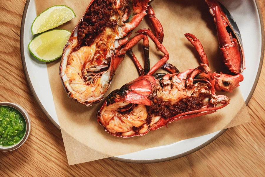 Chorizo and lobster