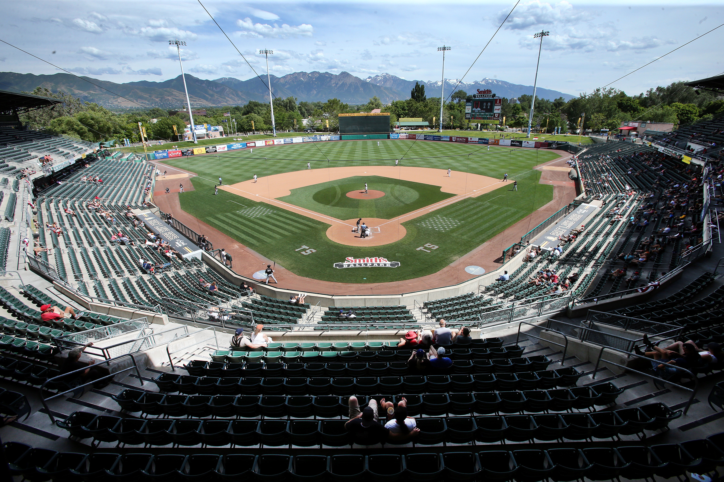 Bees and the Chihuahuas play a Smith's Ballpark in Salt Lake City on Sunday, July 7, 2019. Chihuahuas won 9-2.