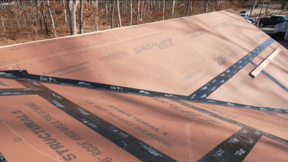 Roofing system at the Cottage on the Cape Idea House.