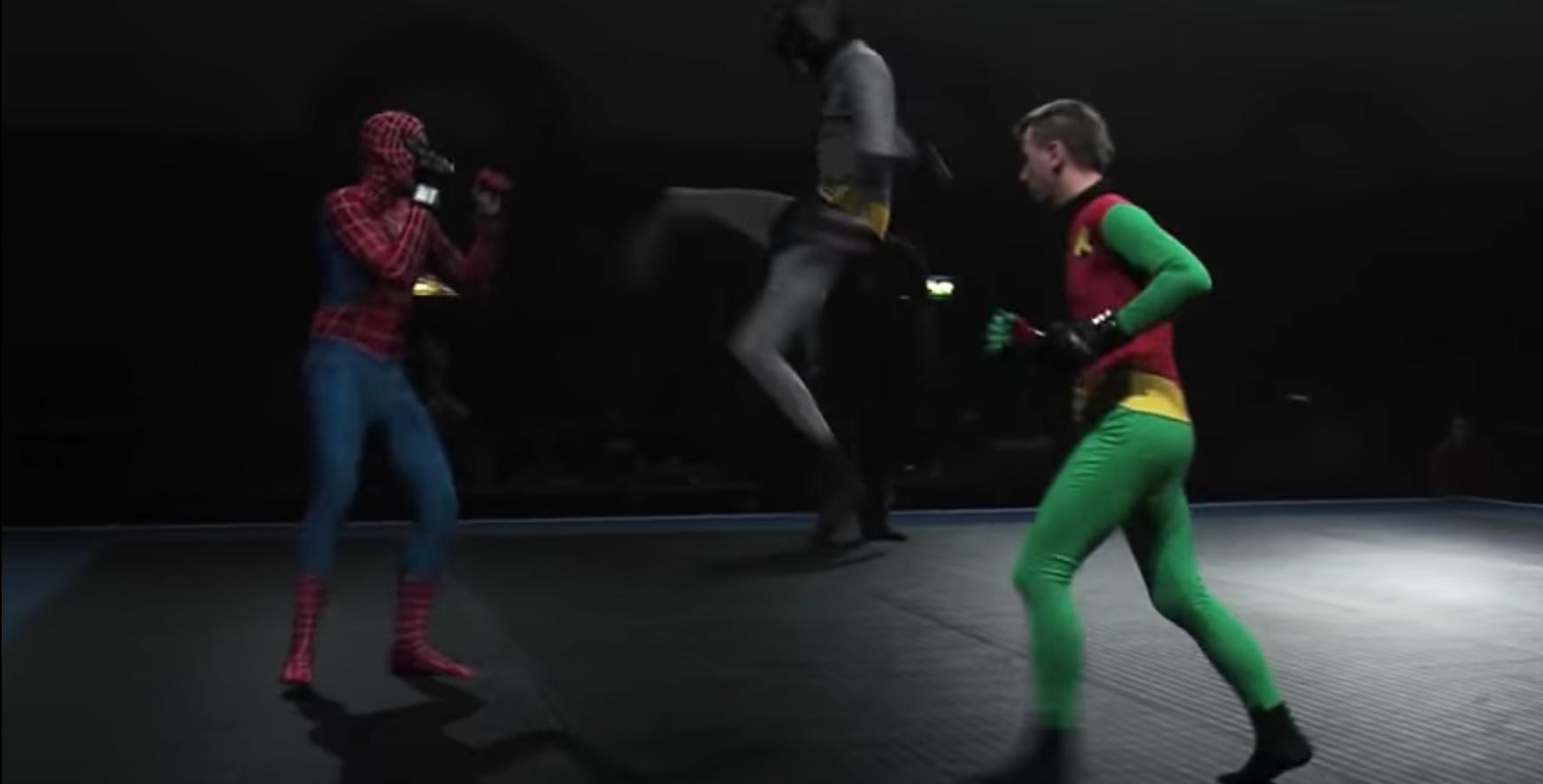 spiderman batman robin mma
