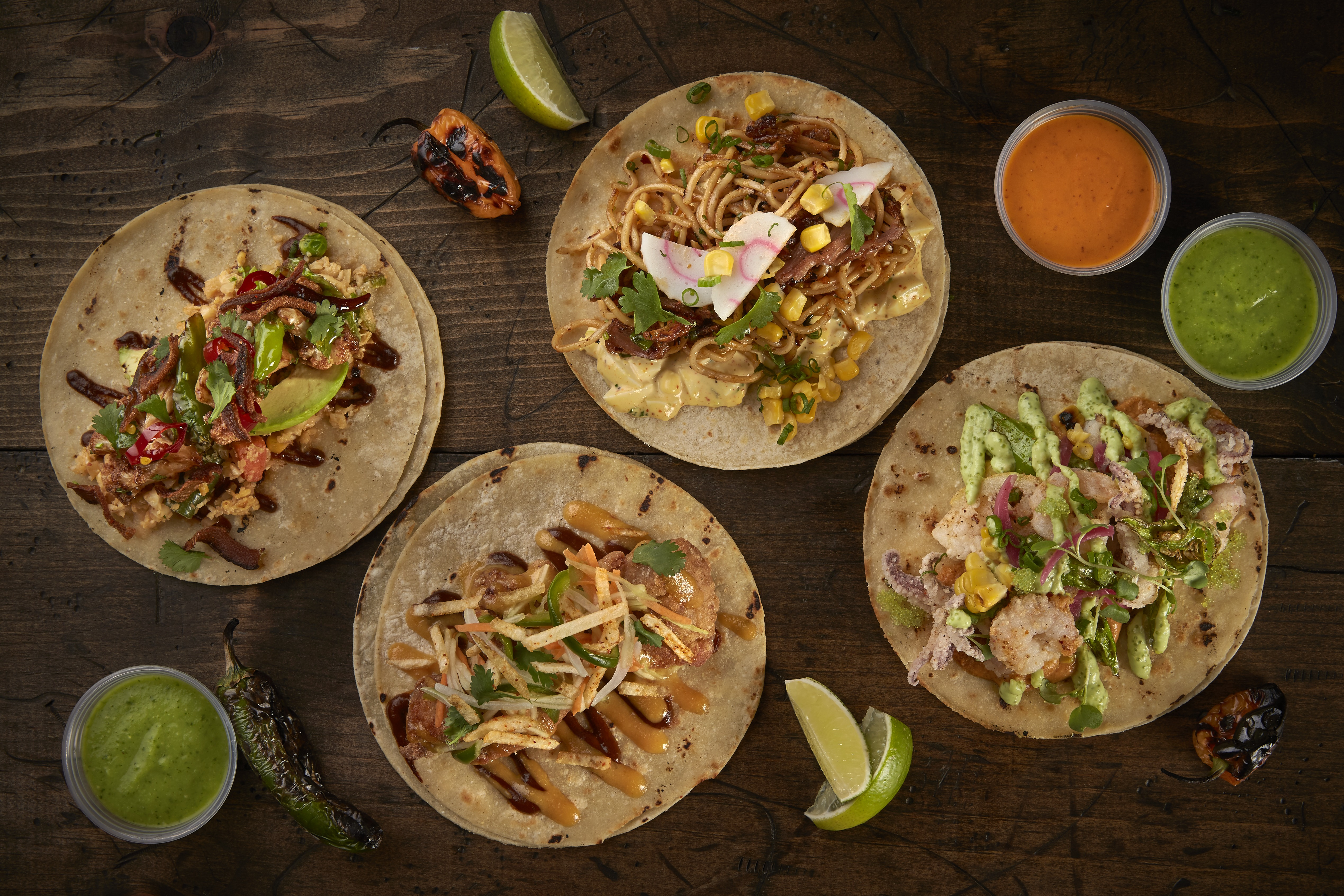 """Special """"nuestros tacos"""" from the Taco Bamba in Fairfax"""