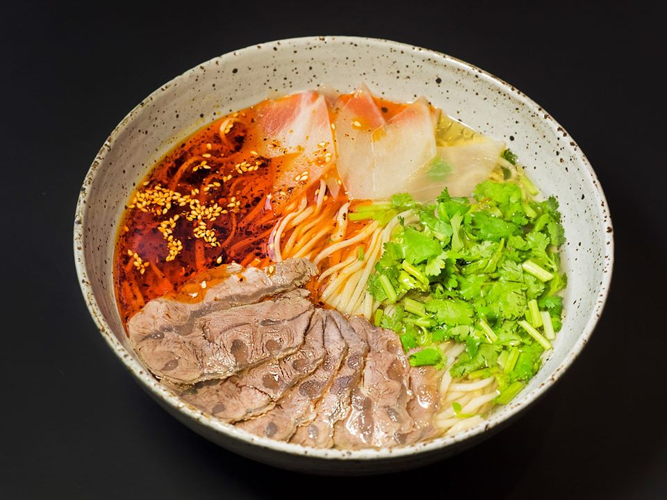 Lanzhou beef noodle soup from Dun Huang.