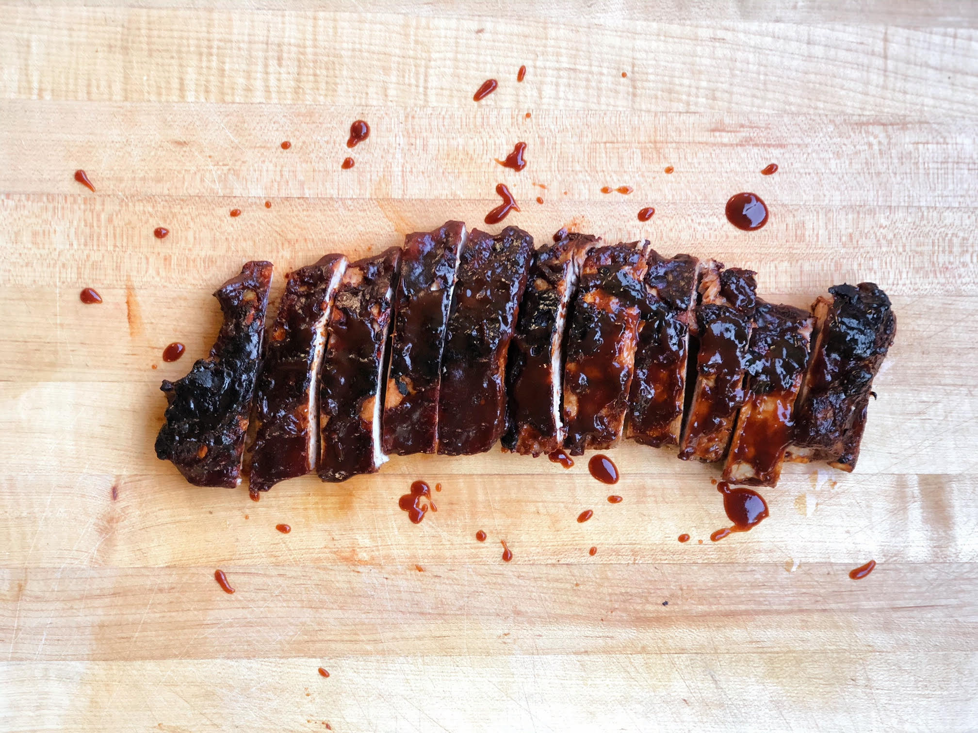 Baby back ribs at Ernest
