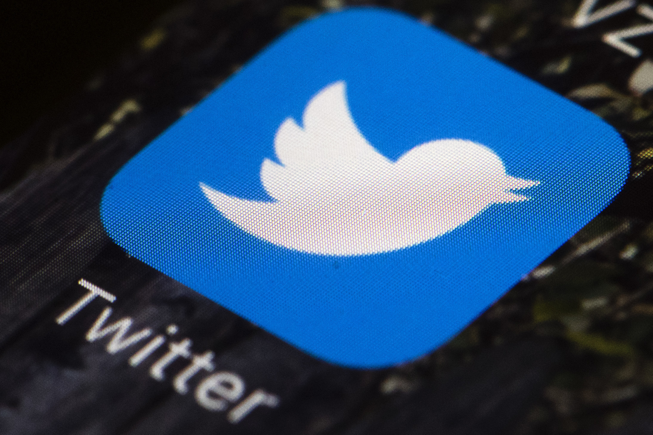 This April 26, 2017, file photo shows the Twitter app icon on a mobile phone in Philadelphia. A tech-focused civil liberties group on Tuesday, June 2, 2020, sued to block President Donald Trump's executive order that seeks to regulate social media, saying it violates the First Amendment and chills speech.