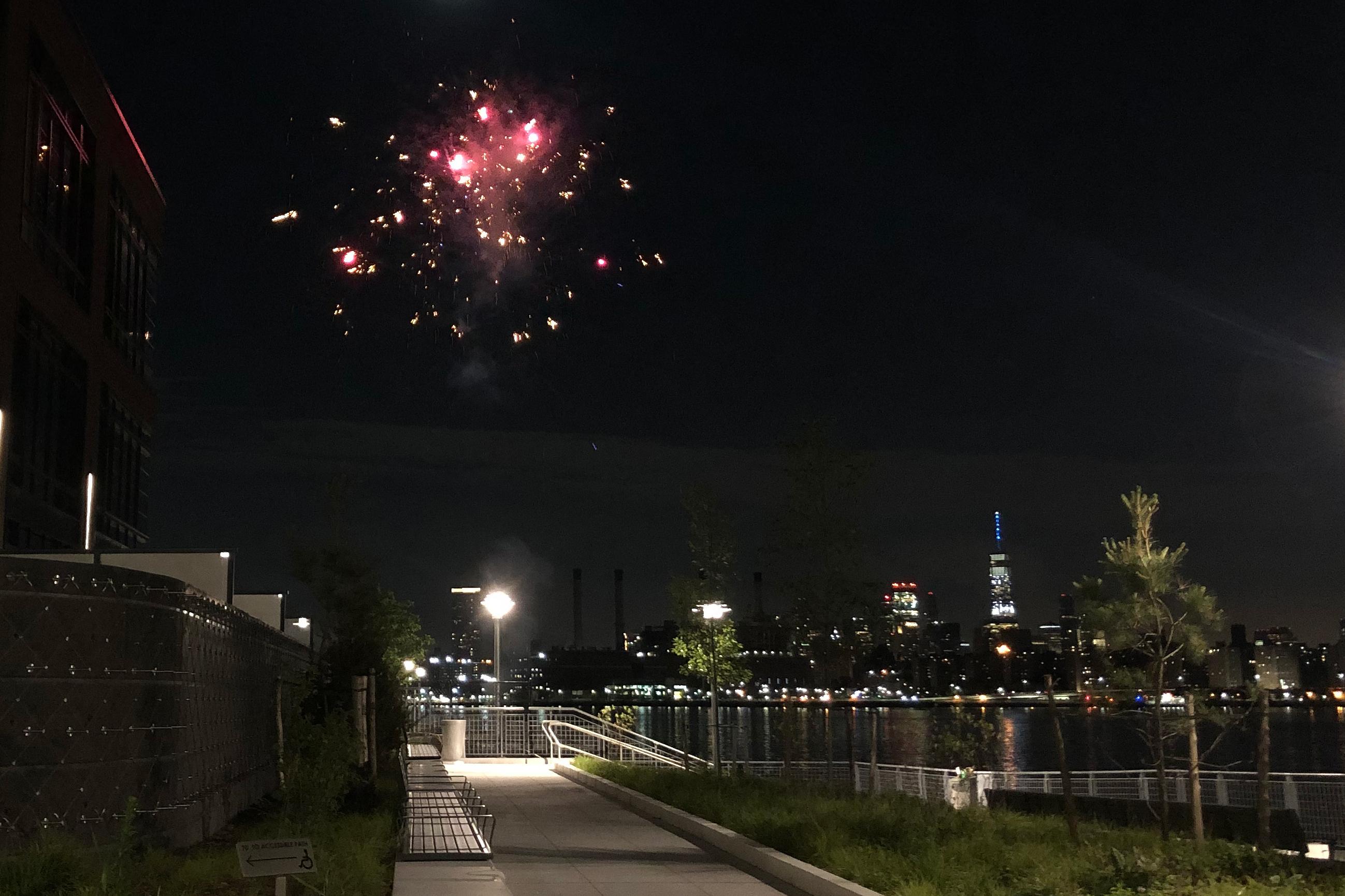 Fireworks in Greenpoint, Brooklyn, June 30, 2020.