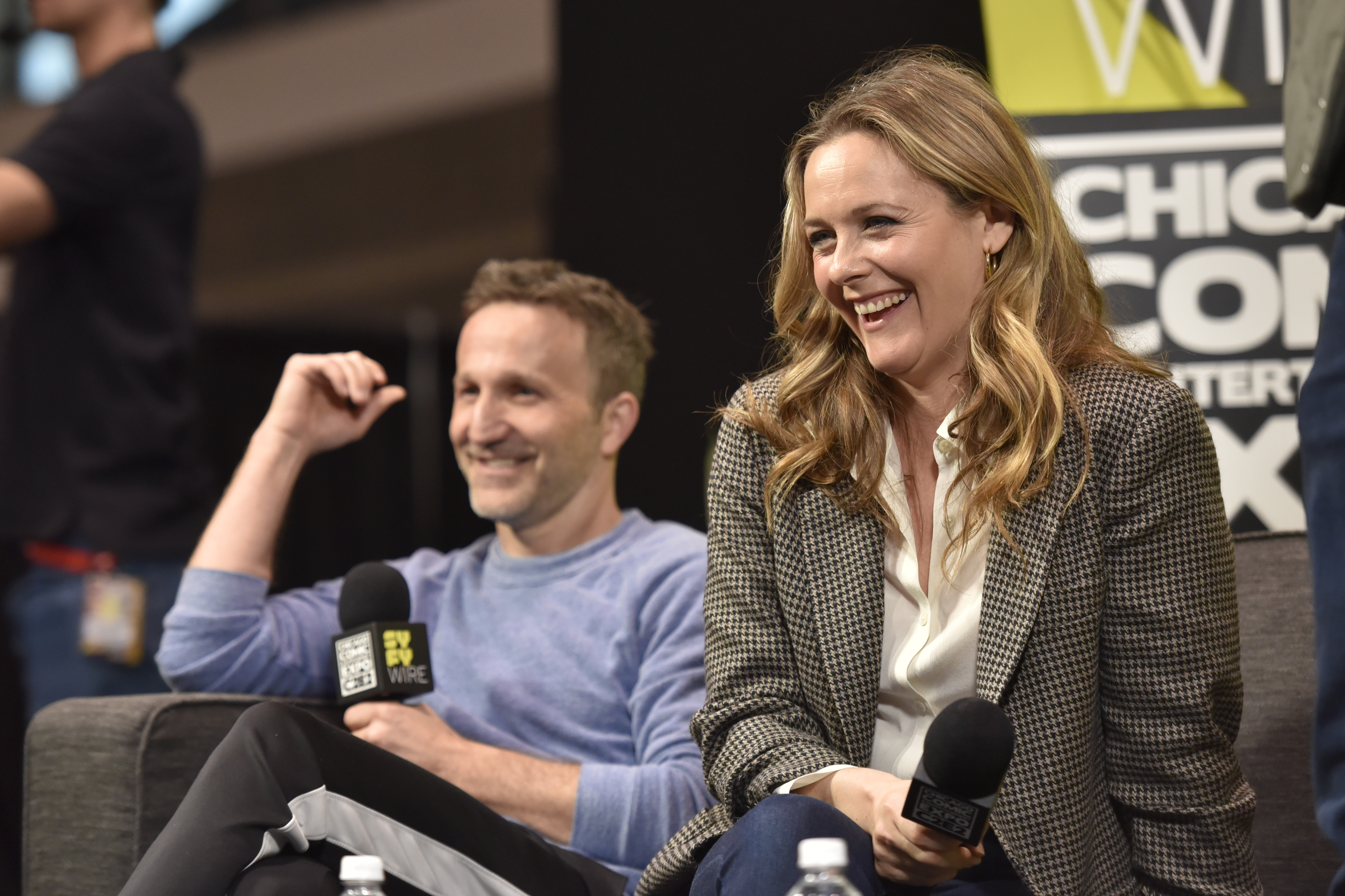 Alicia Silverstone, Breckin Meyer seen on day 3 during the Clueless Reunion Panel at C2E2 at McCormick Place on Sunday, March 24, 2019 in Chicago.
