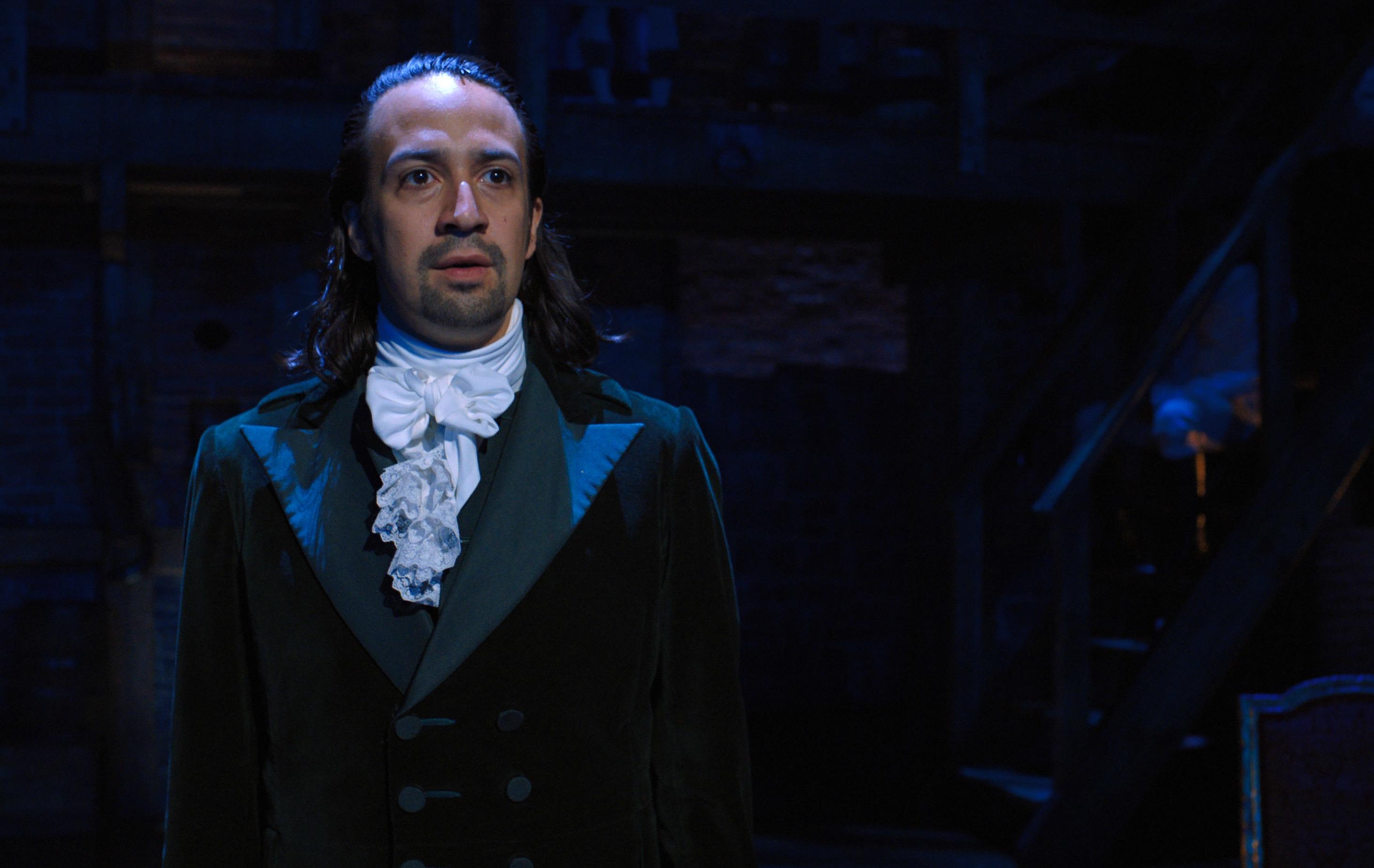 Lin-Manuel Miranda in the filmed Hamilton musical