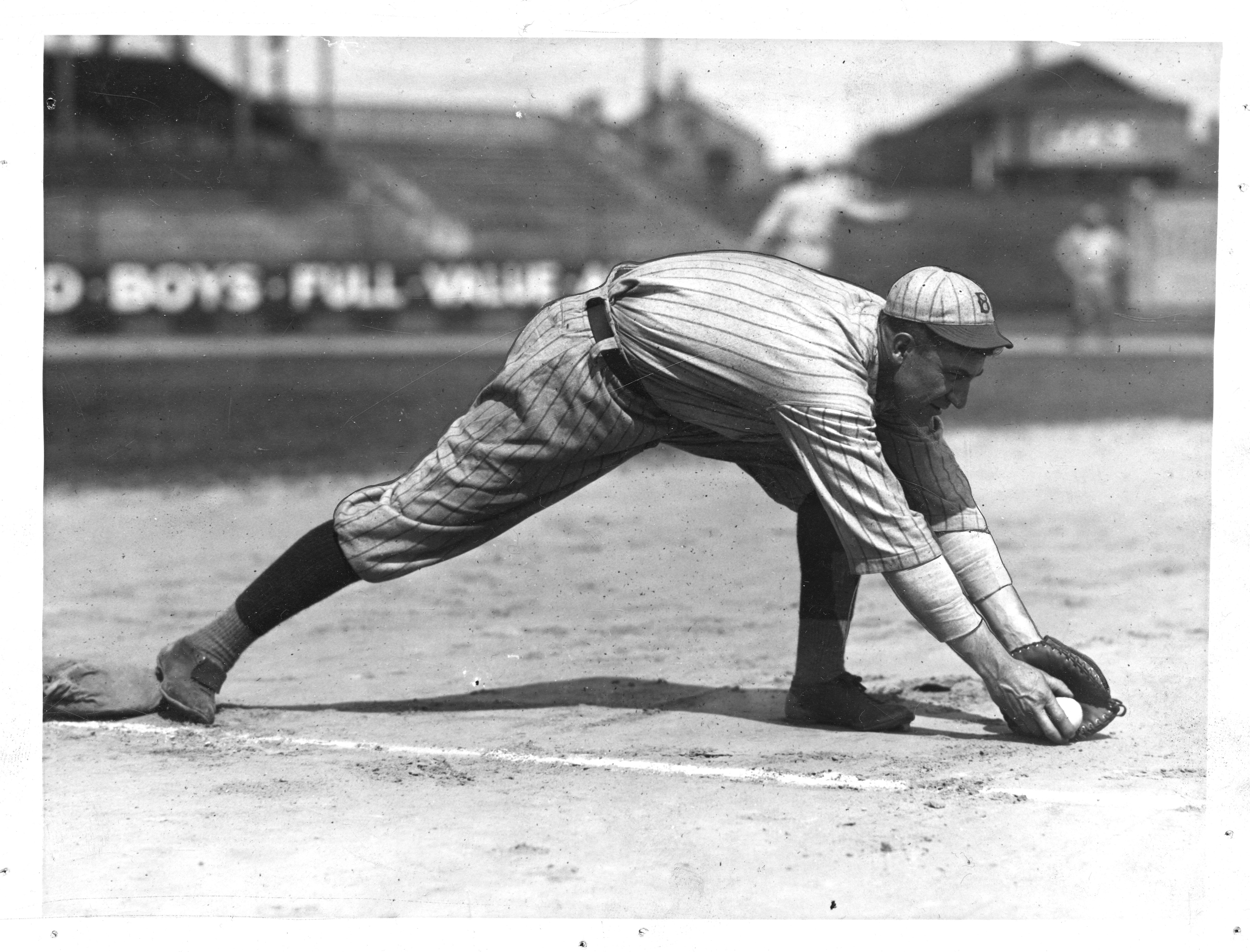 Ed Konetchy Practices At Ebbets Field
