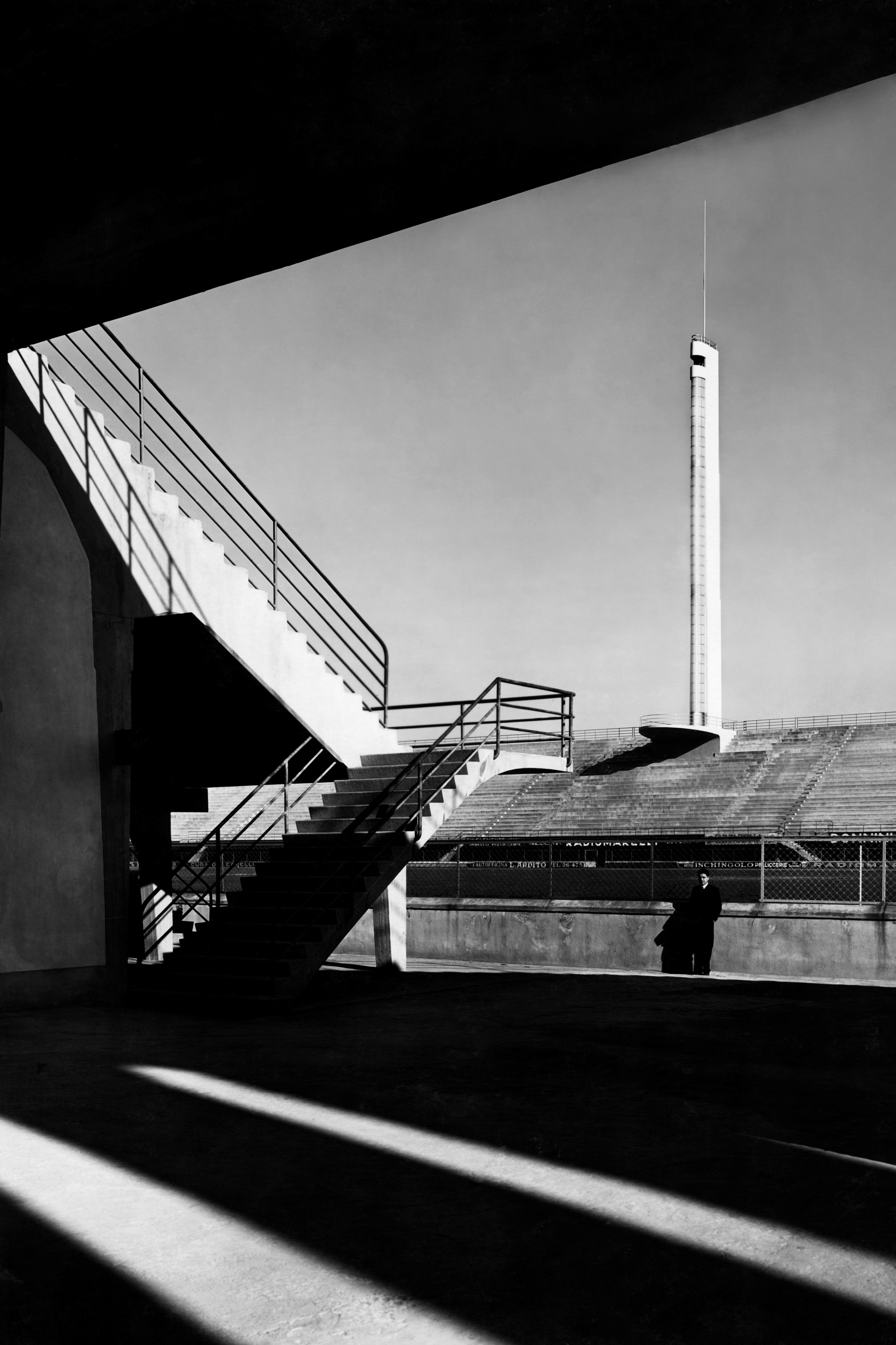 Torre di maratona, giovanni berta stadium, florence 30s