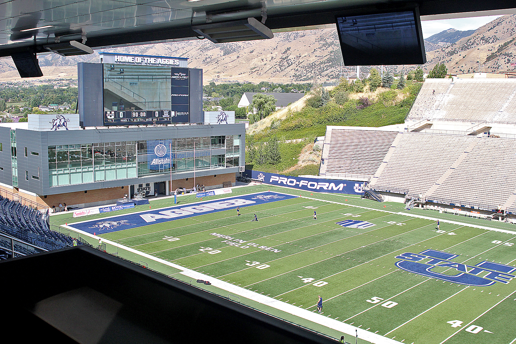 """Utah State on Sunday announced the suspension of a member of its football team due to """"inappropriate racial comments."""""""