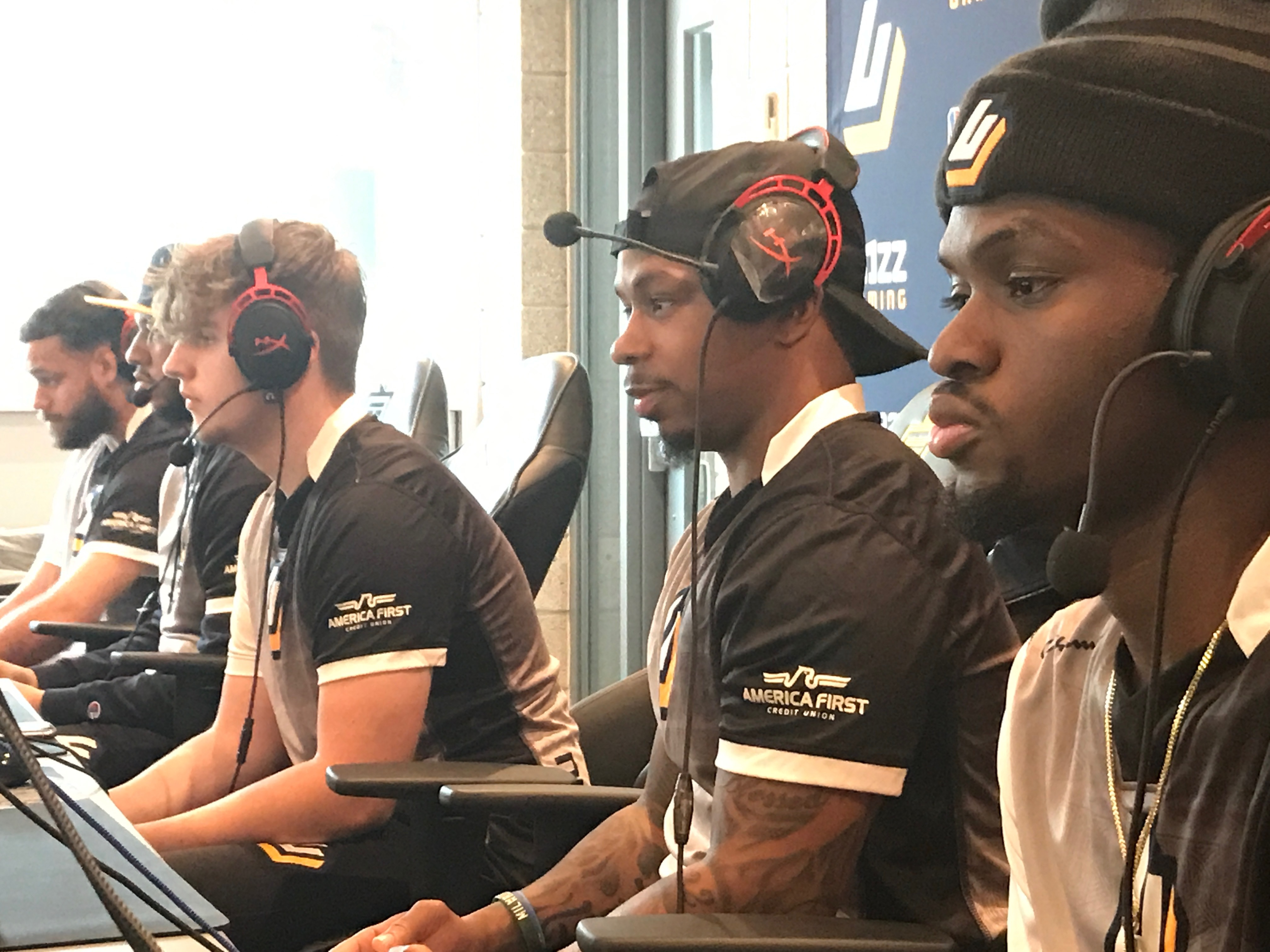 Jazz Gaming competes in a recent match in the NBA 2K League.