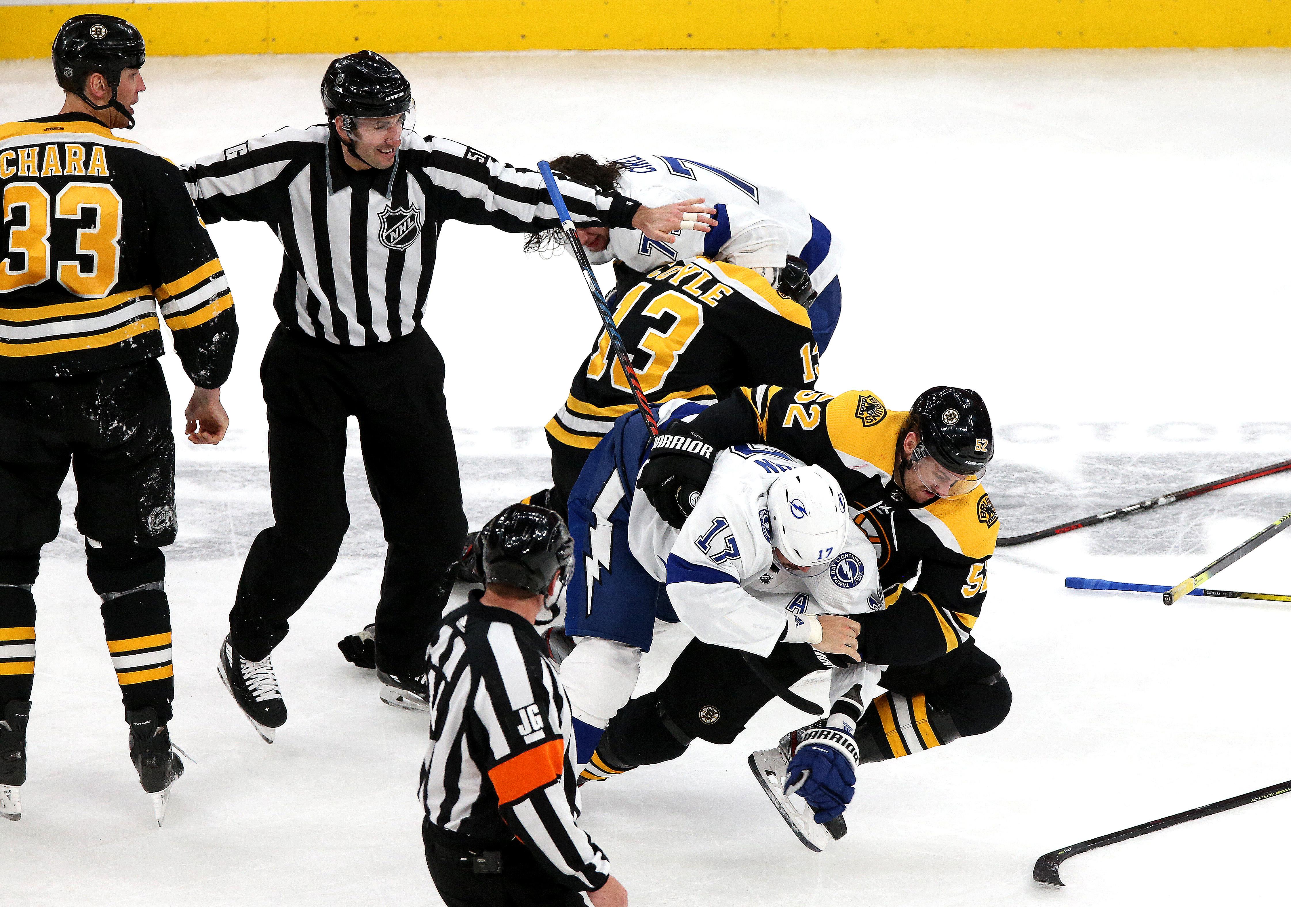 Tampa Bay Lightning Vs Boston Bruins At TD Garden