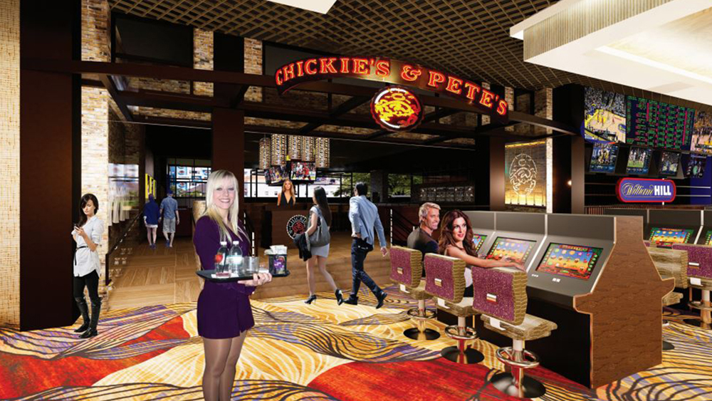 Rendering of the Chickie's & Pete's crab house and sports bar at the Sahara Las Vegas.