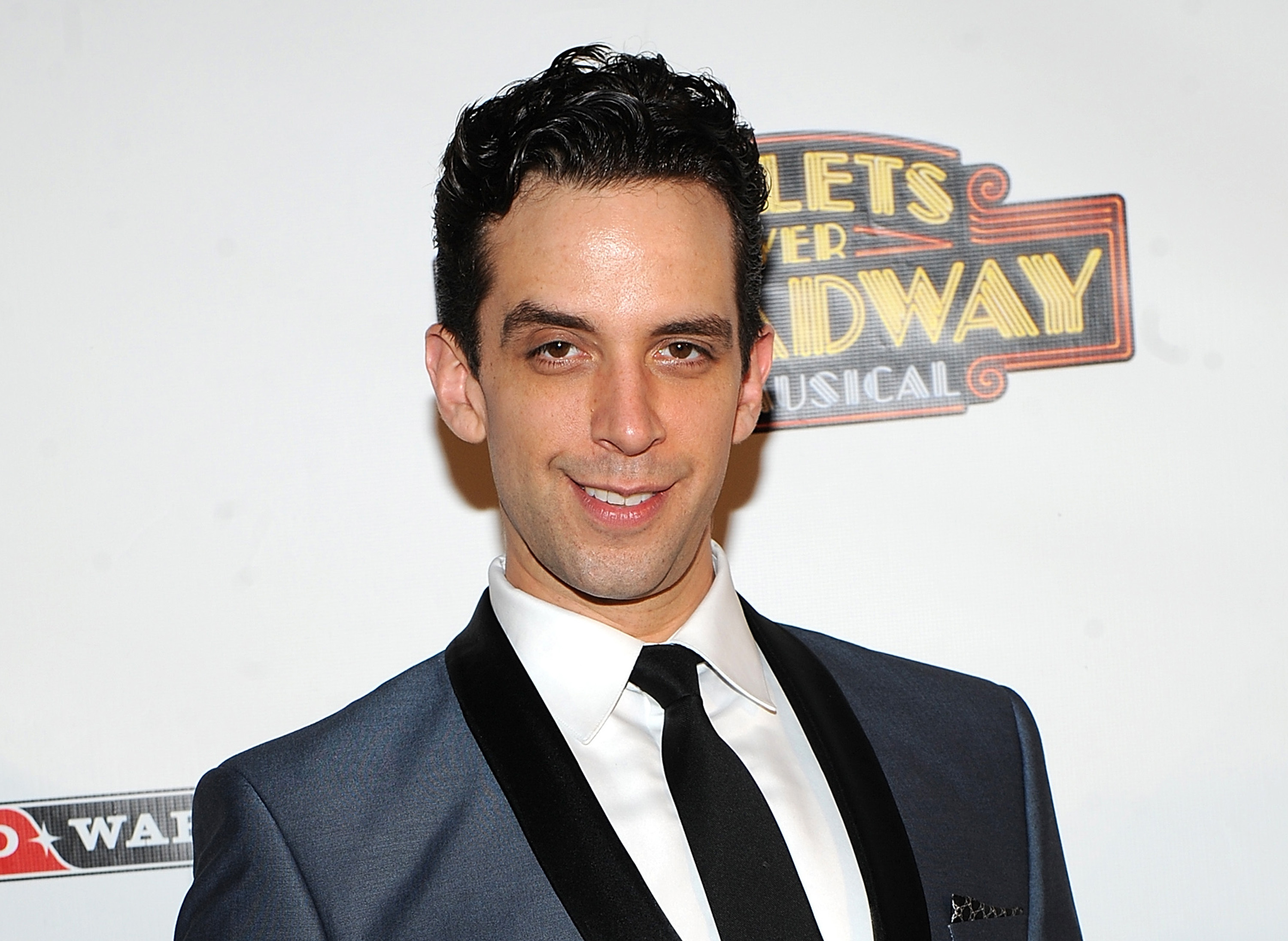 """In this April 10, 2014, file photo, actor Nick Cordero attends the after-party for the opening night of """"Bullets Over Broadway"""" in New York. Tony Award-nominated actor Cordero, who specialized in playing tough guys on Broadway in such shows as """"Waitress,"""" """"A Bronx Tale"""" and """"Bullets Over Broadway,"""" has died in Los Angeles after suffering severe medical complications after contracting the coronavirus."""