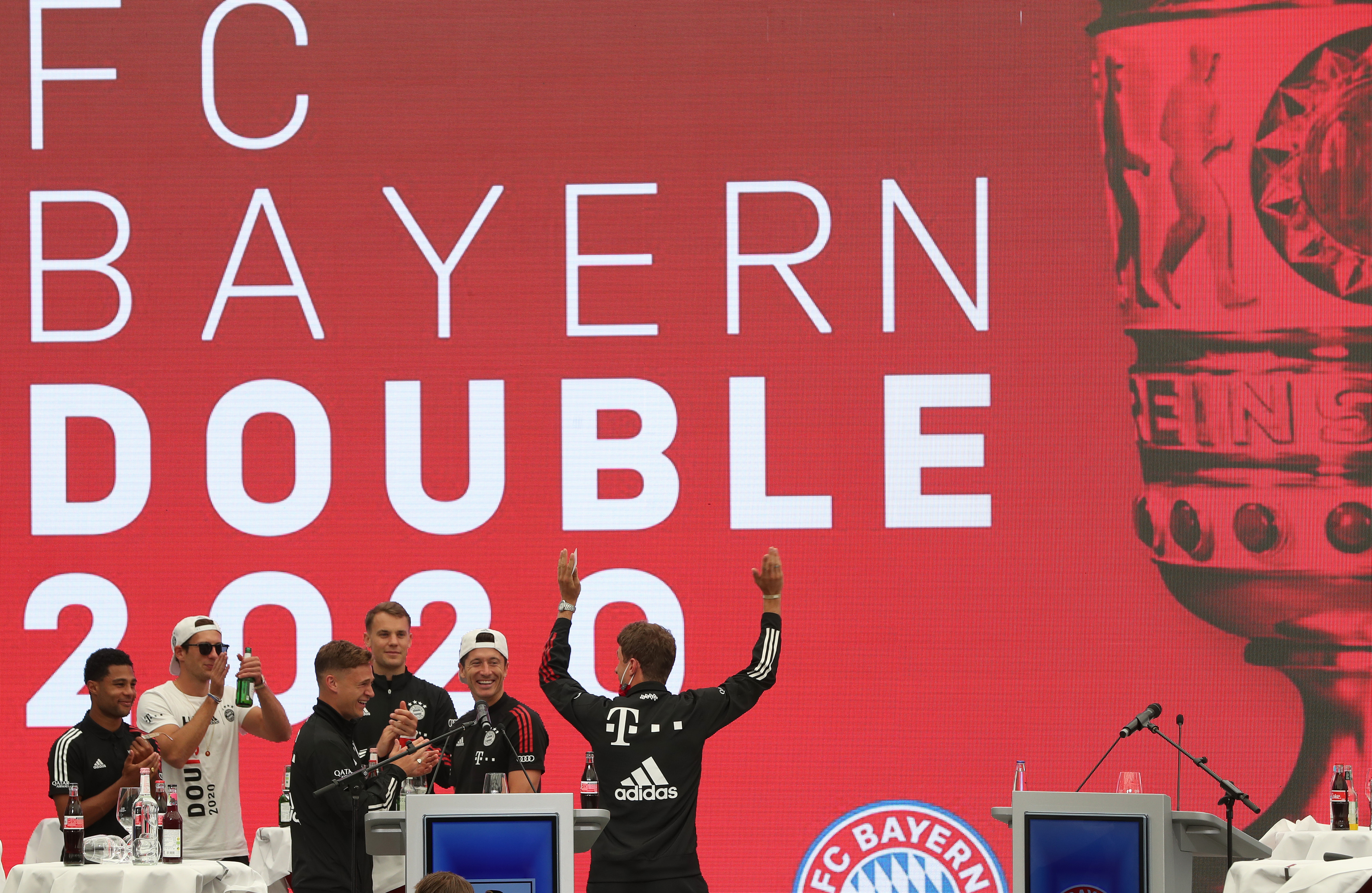 FC Bayern Muenchen Town Hall Reception