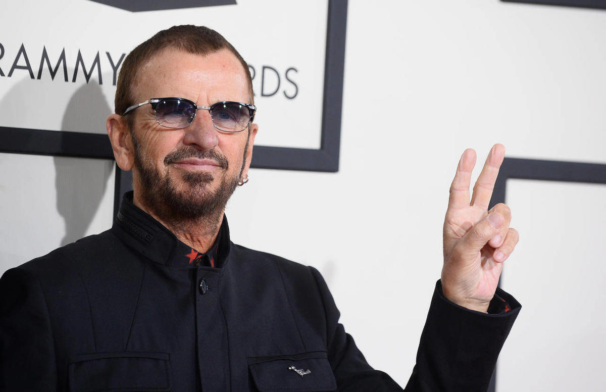 Ringo Starr arrives at the 56th annual Grammy Awards at Staples Center on Sunday, Jan. 26, 2014, in Los Angeles.