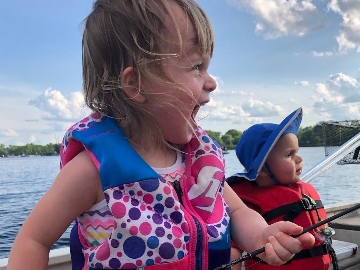 The magic of bluegills as shown in this photo forwarded by Jason Fox and taken by his wife Marissa of their kids Lydia and David. Photo provided