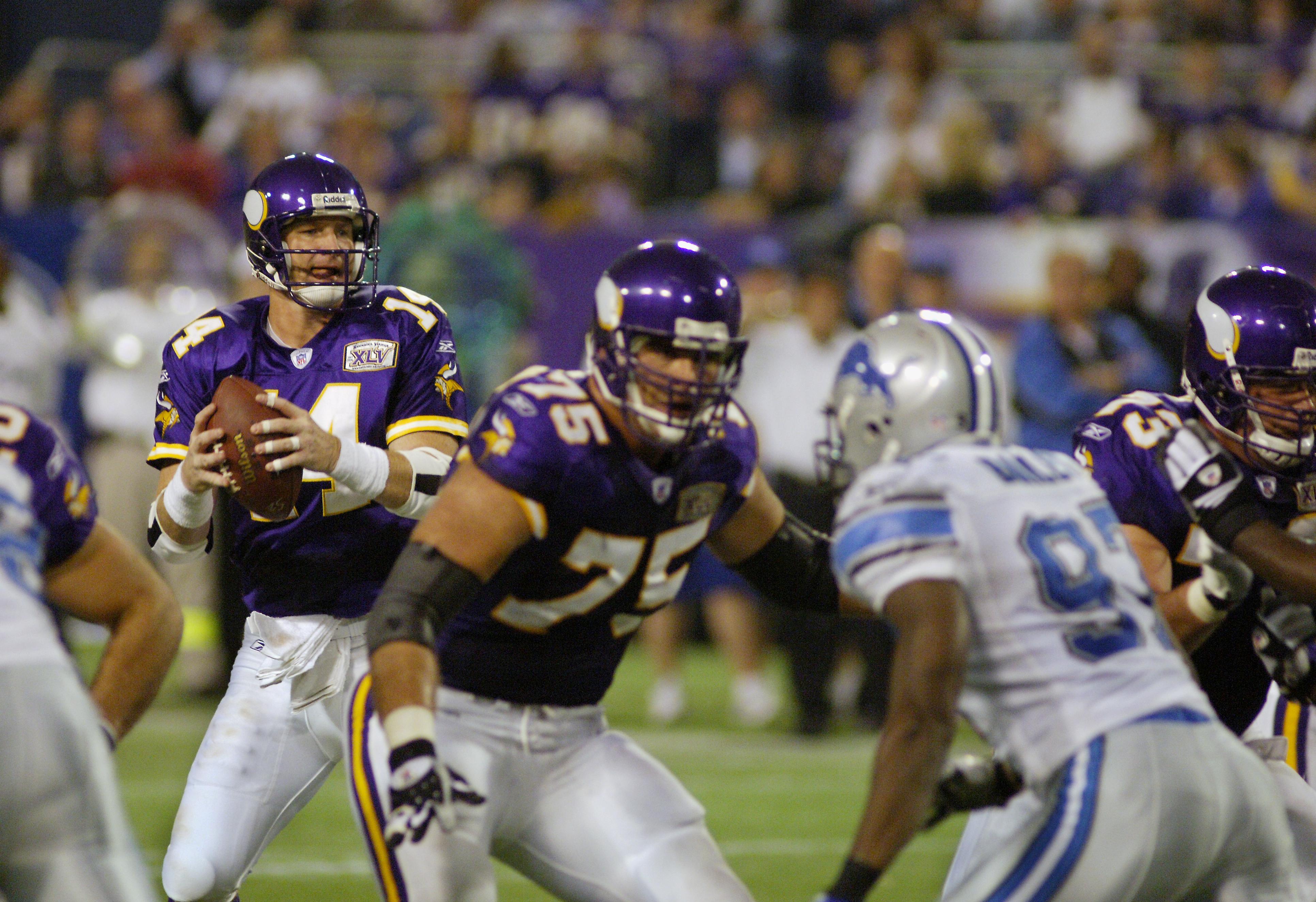 Minnesota Vikings Quarterback Brad Johnson During NFL Game