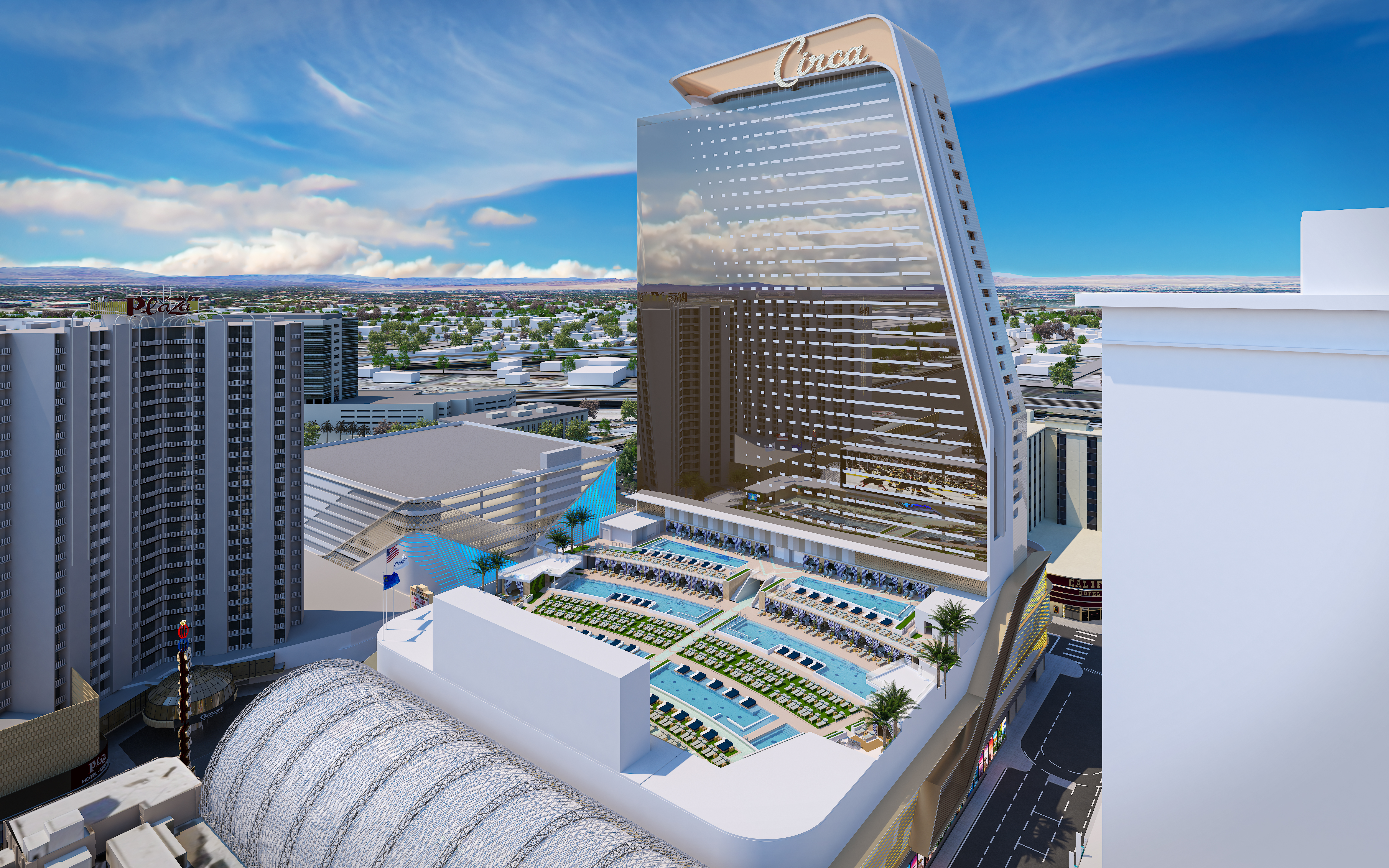 A new resort under construction in Las Vegas
