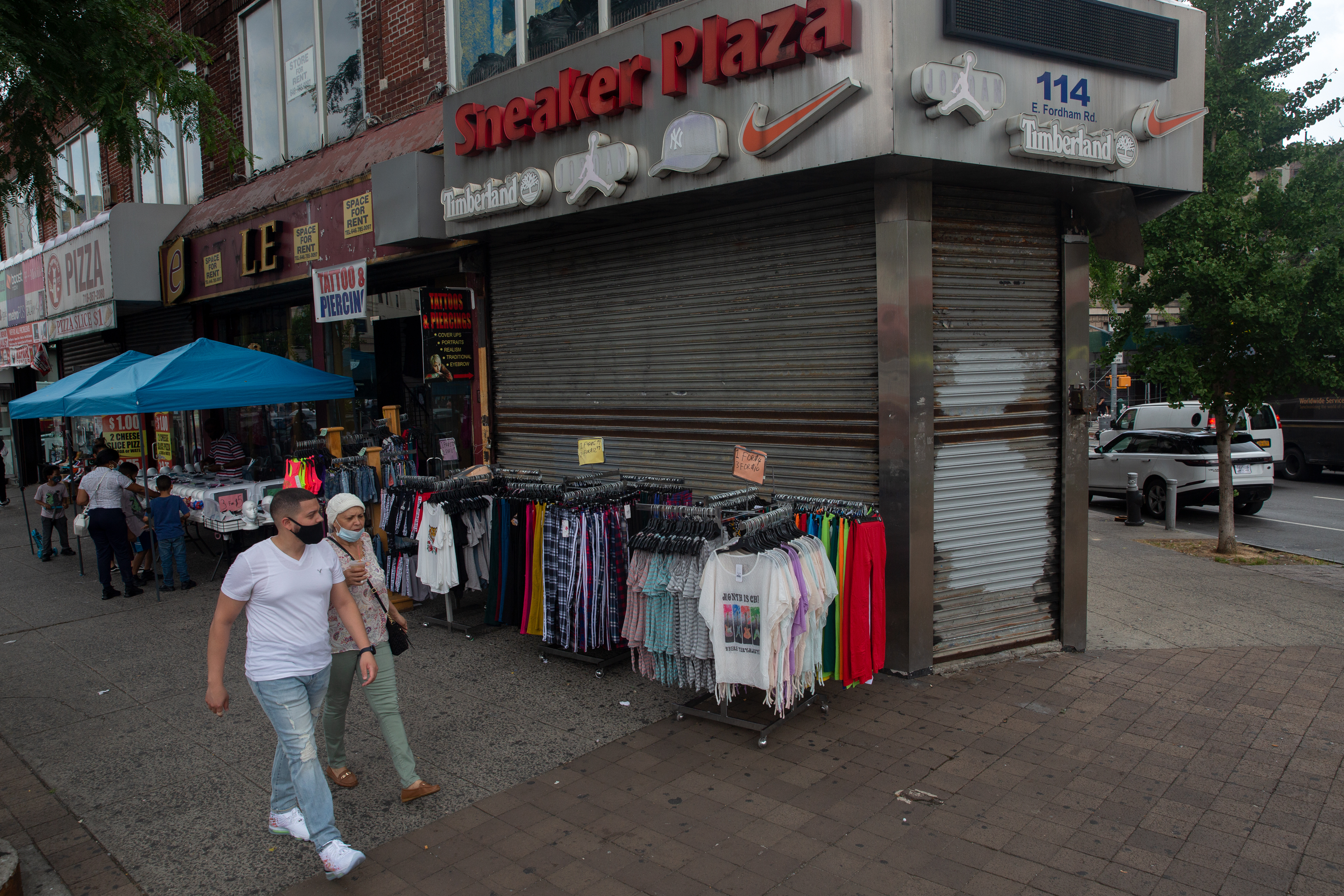Sneaker Plaza on East Fordham Road was looted after anti-police brutality protests.