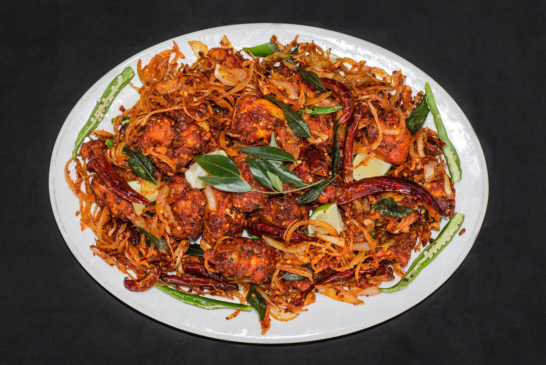 Chicken fry at Thattukada in East Ham, an outstanding Kerala neighbourhood restaurant