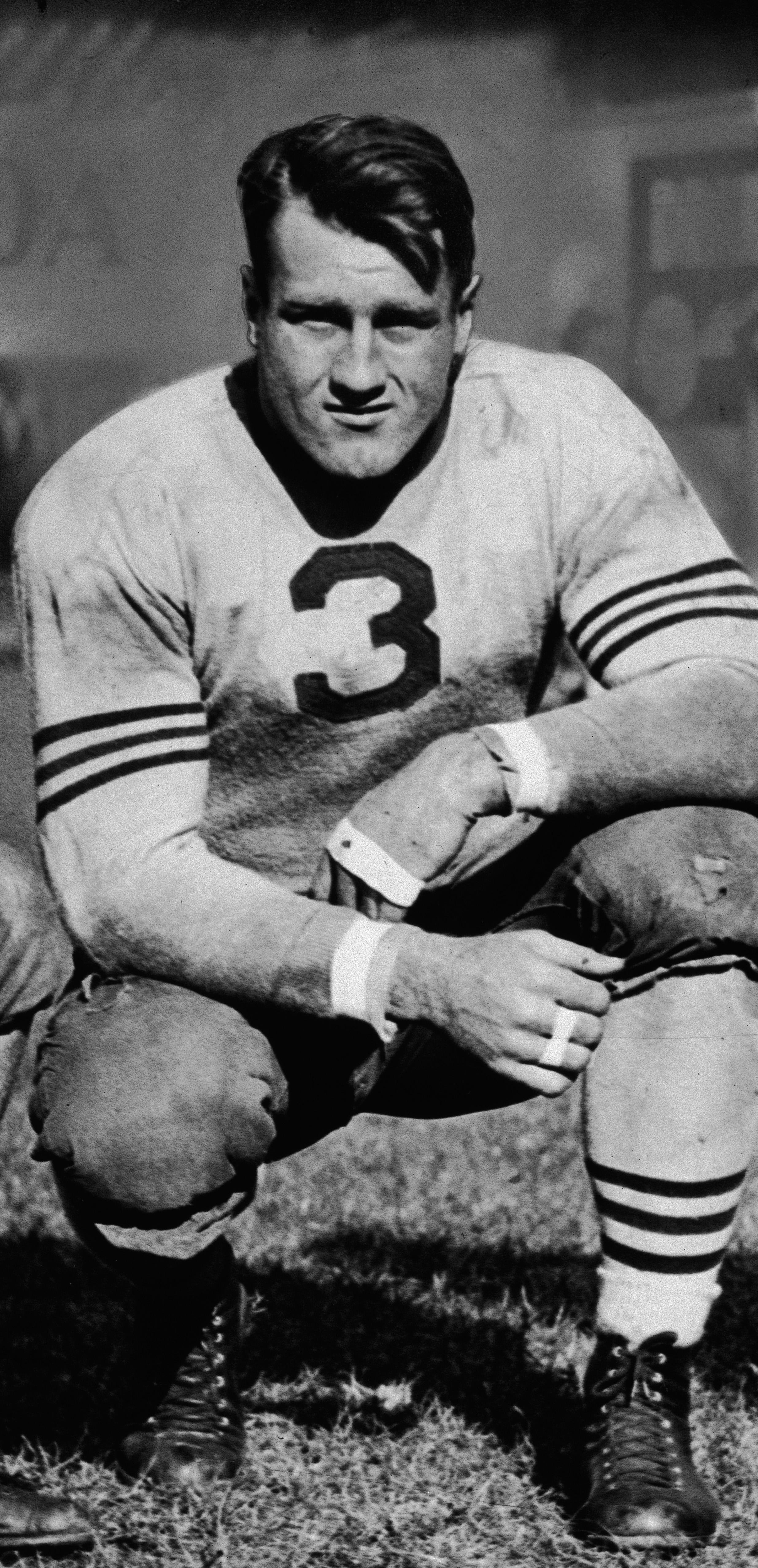 'Bronko' Nagurski In Chicago Bears Uniform, 1933.