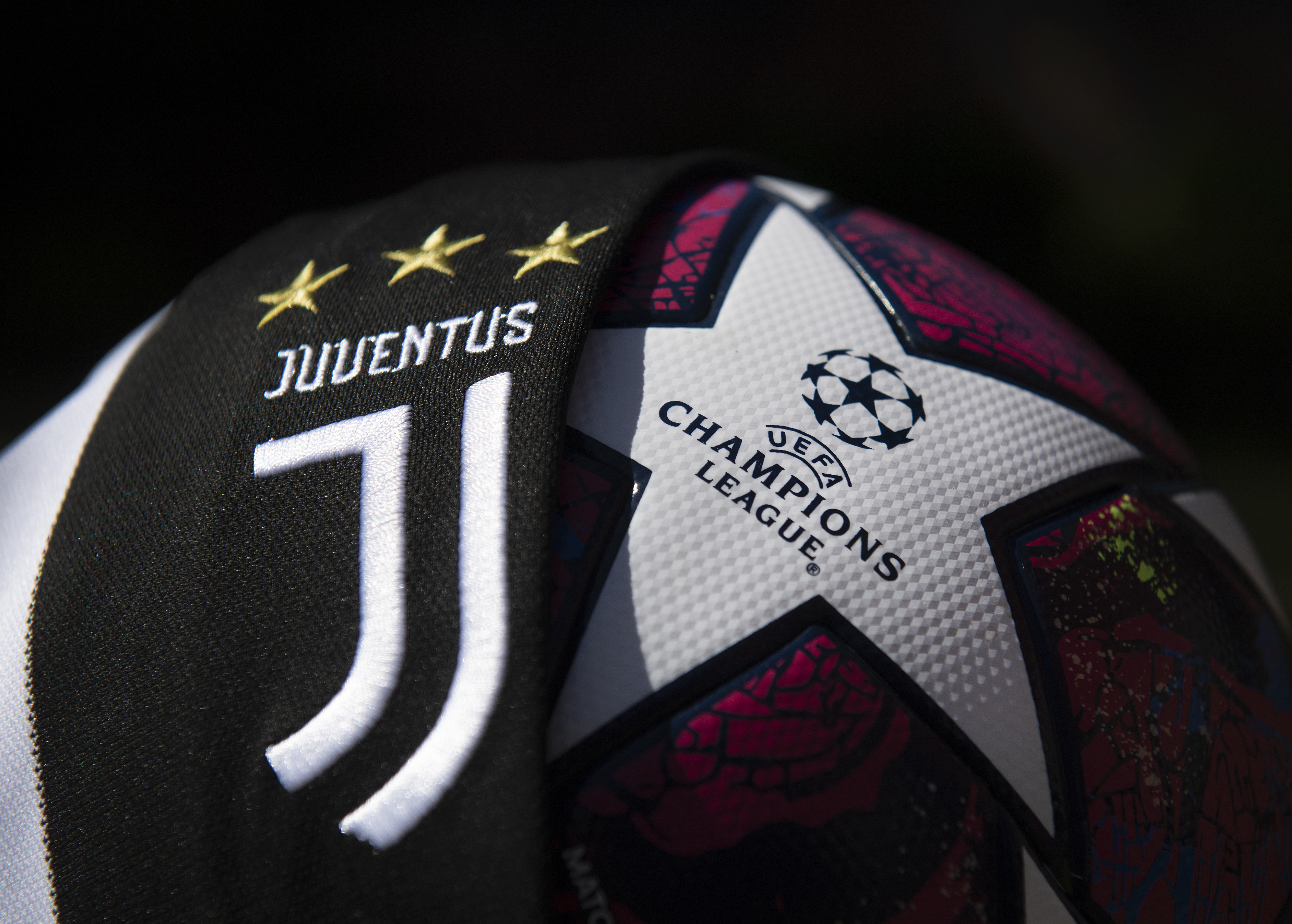 The Juventus Club Crest and Champions League Match Ball
