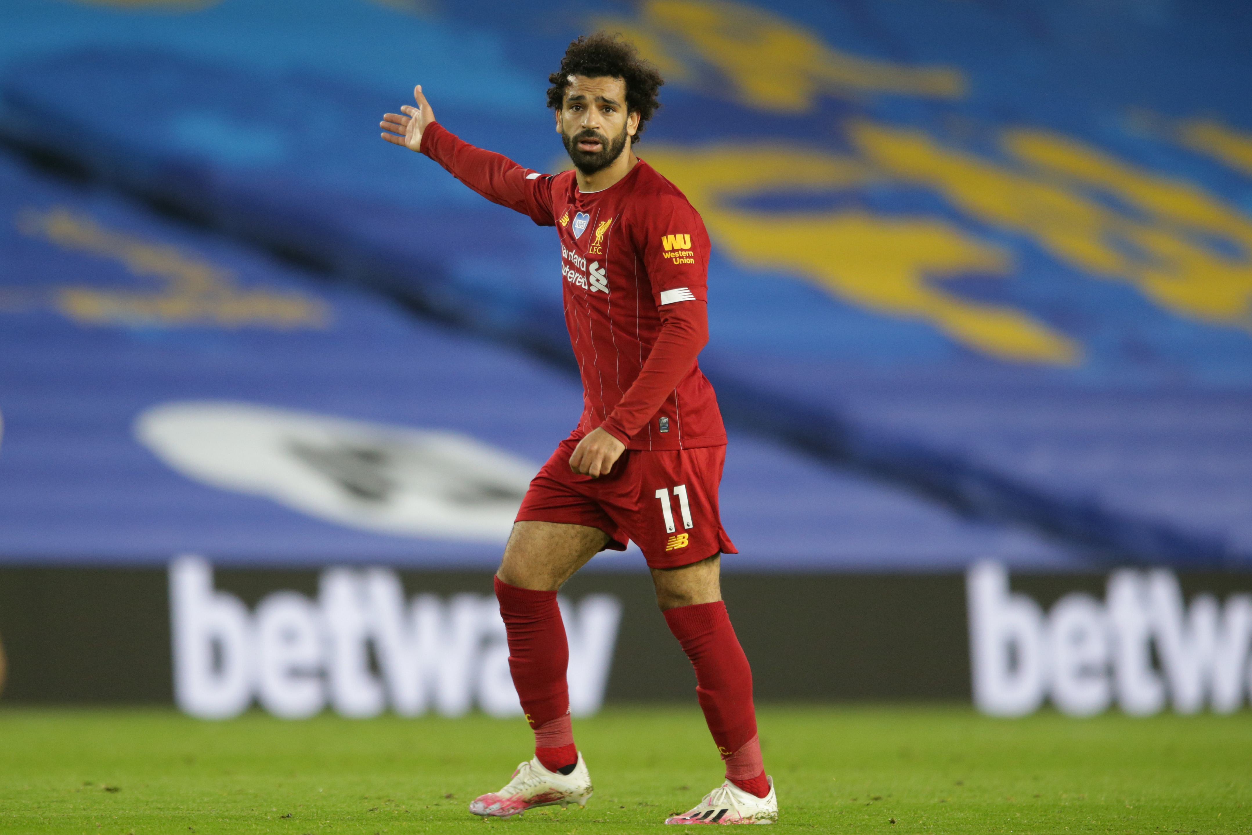 Mohamed Salah of Liverpool during the Premier League match between Brighton & Hove Albion and Liverpool FC at American Express Community Stadium on July 8.