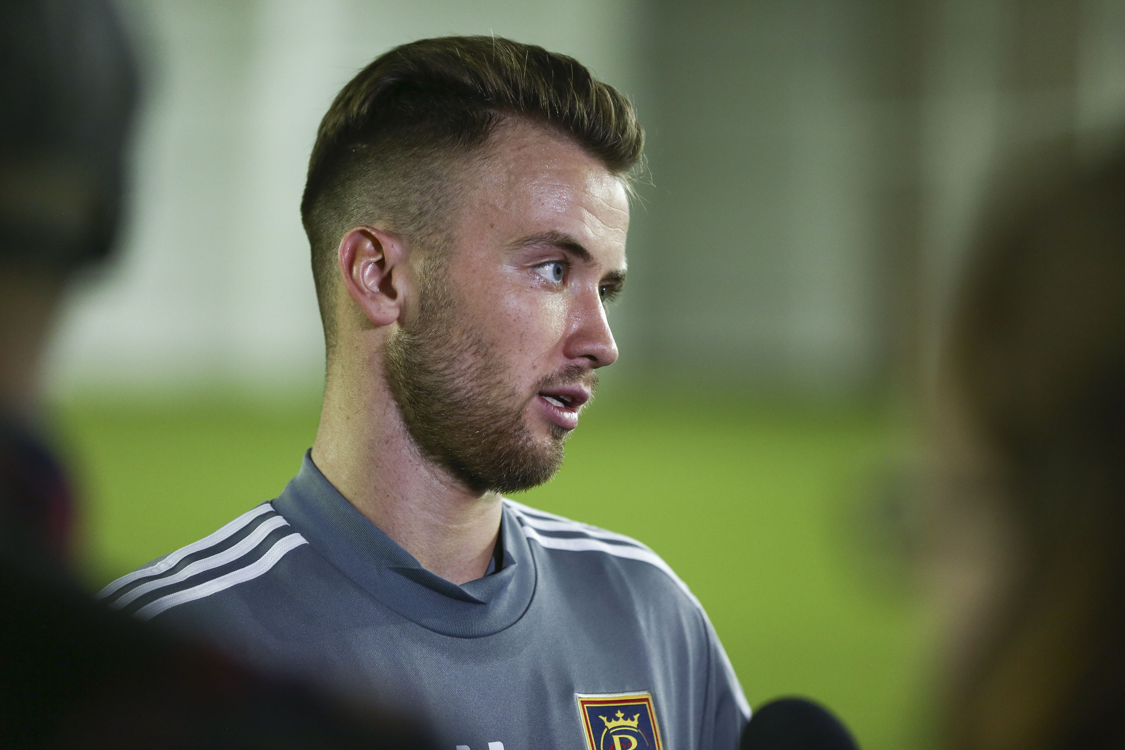 Real Salt Lake midfielder Albert Rusnák speaks with members of the media on Monday, Jan. 21, 2019. RSL has been in the MLS bubble for nearly a week now, at the Disney World Swan and Dolphin Resort, and the majority of players find it enjoyable.