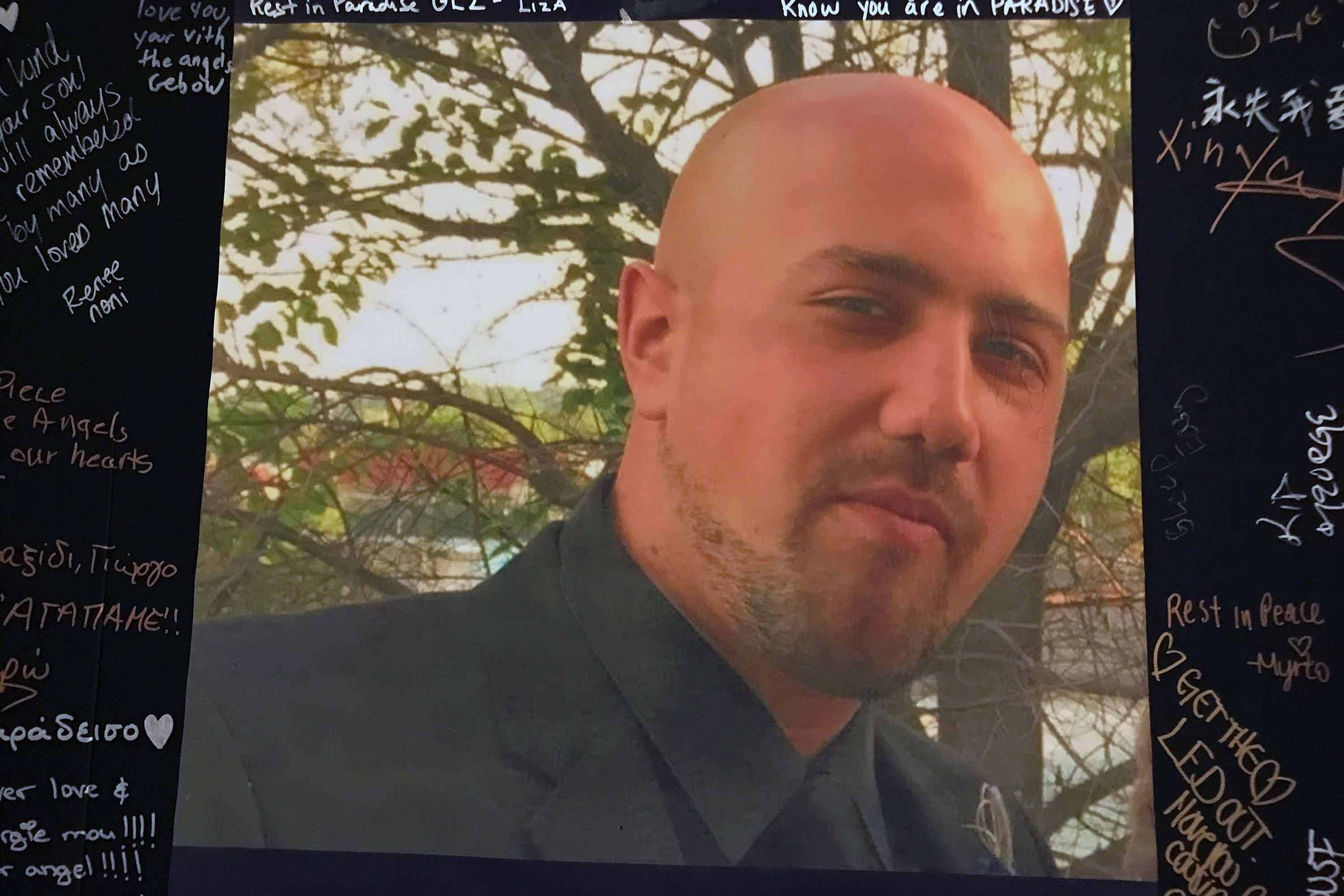 George Zapantis' mother set up a memorial in her Whitestone, Queens home after her 29-year-old son died on June 21 after being tased multiple times by NYPD officers.