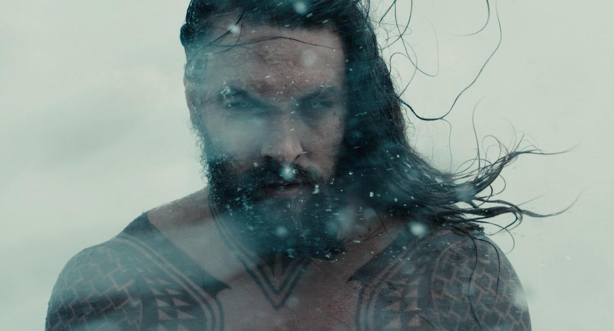 "Jason Momoa as Aquaman in ""Justice League."""