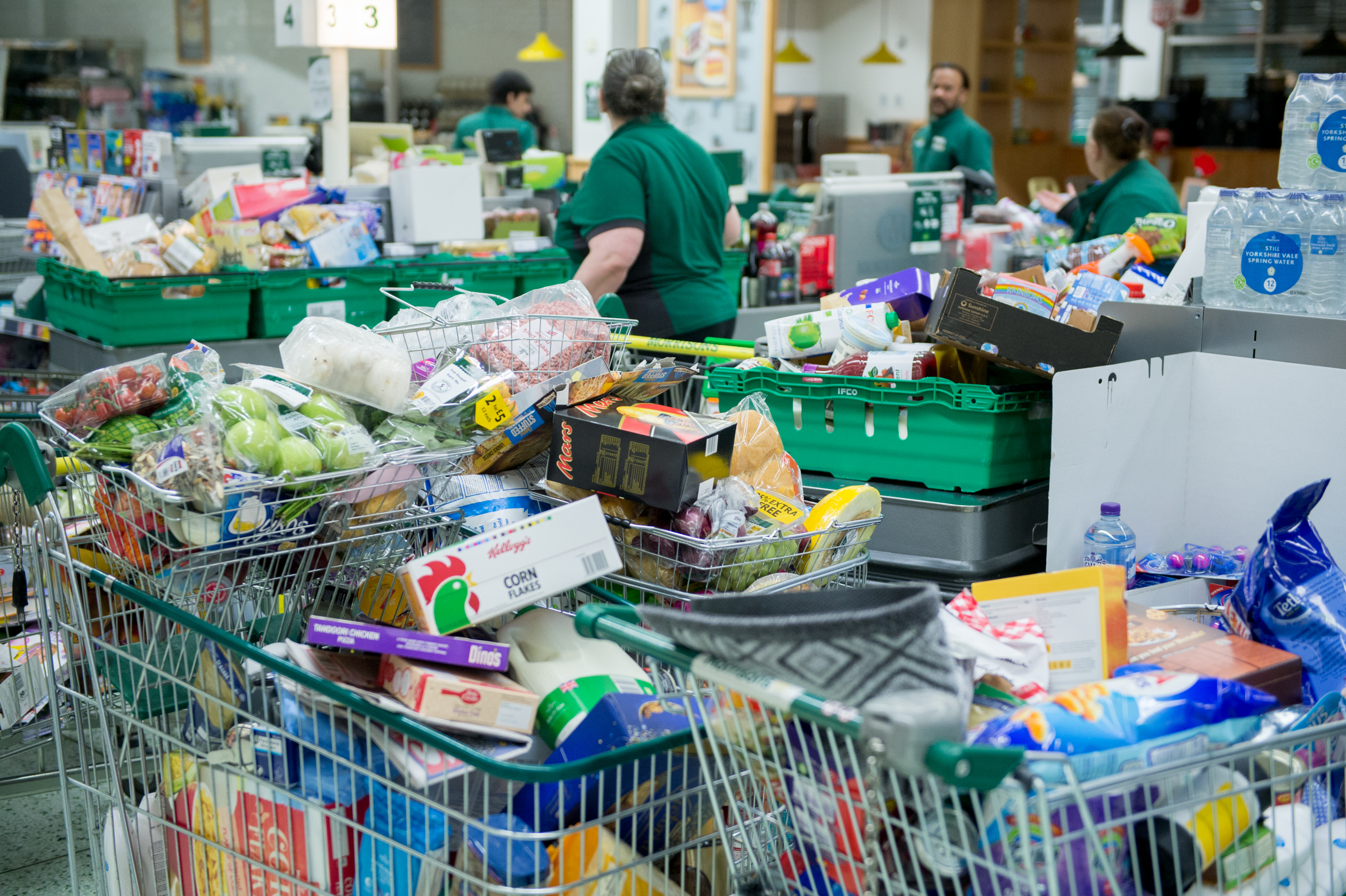 A U.K. supermarket, which could be hit by no-deal Brexit food price rises
