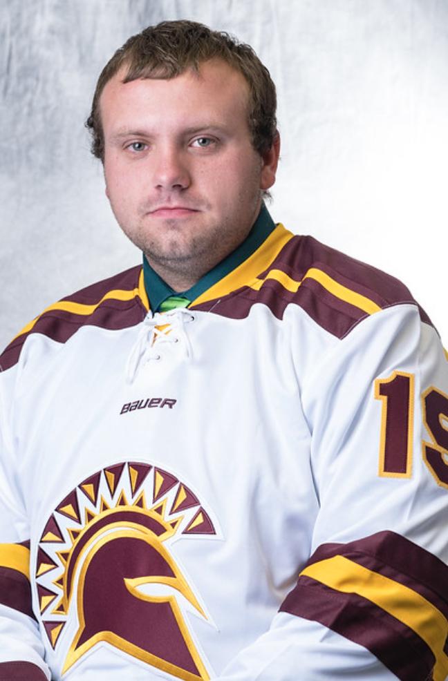 Stephen Finkel plays hockey for St. Thomas Aquinas College