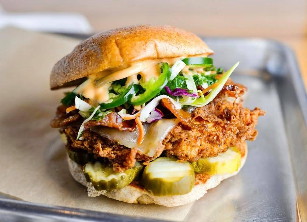 A sandwich from Flyrite Chicken