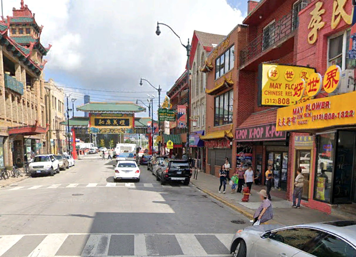 A building suffered fire damage July 14, 2020, at 2223 S. Wentworth Ave. in Chinatown.