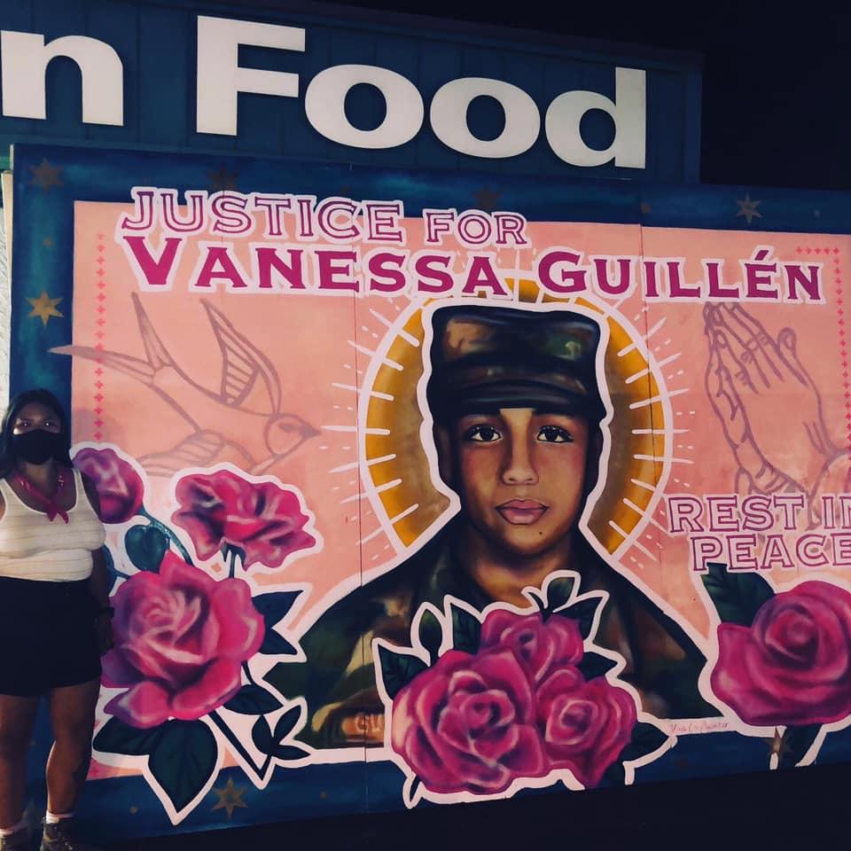 The Vanessa Guillén mural at Joe's Bakery