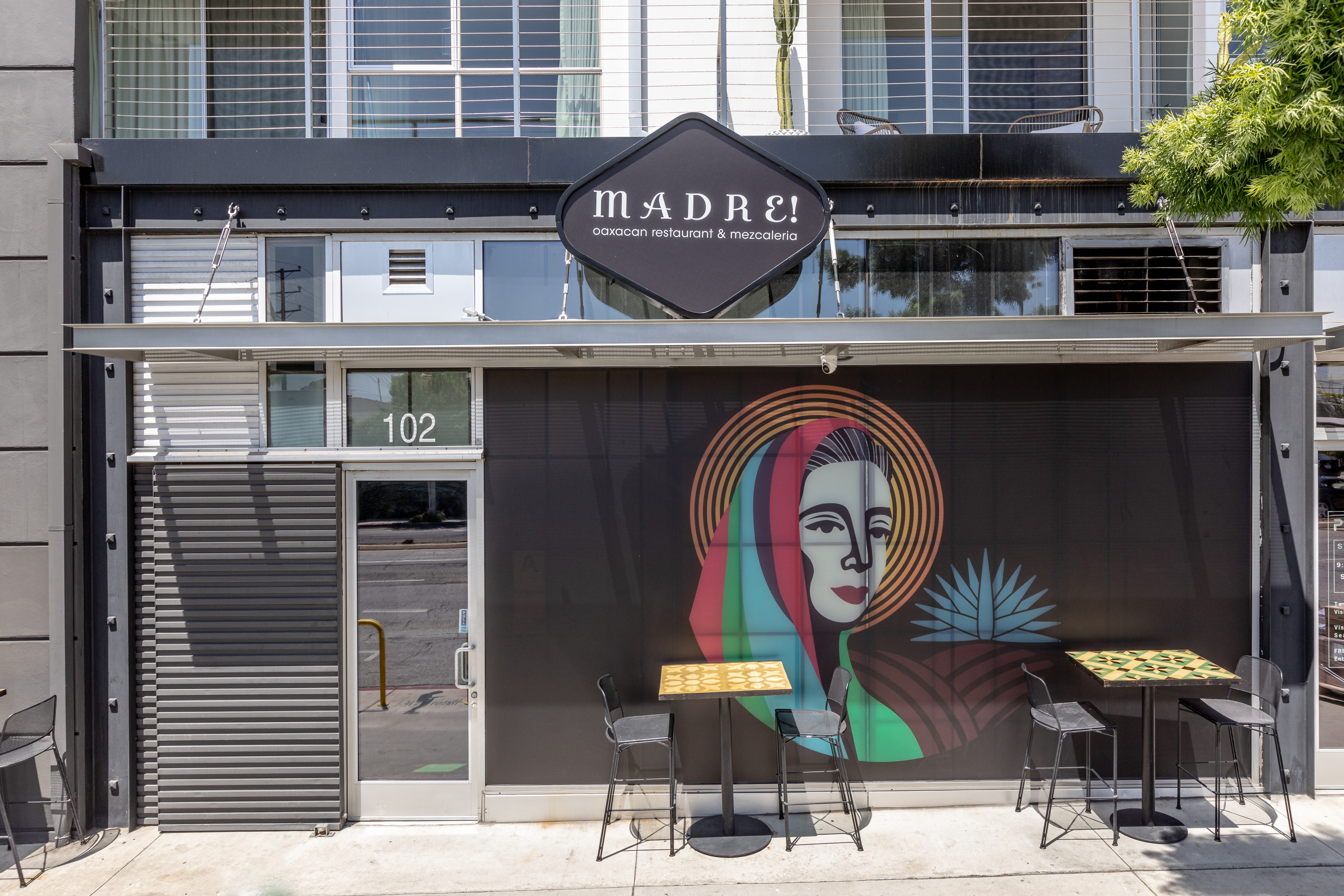 The exterior of Madre restaurant in West Hollywood