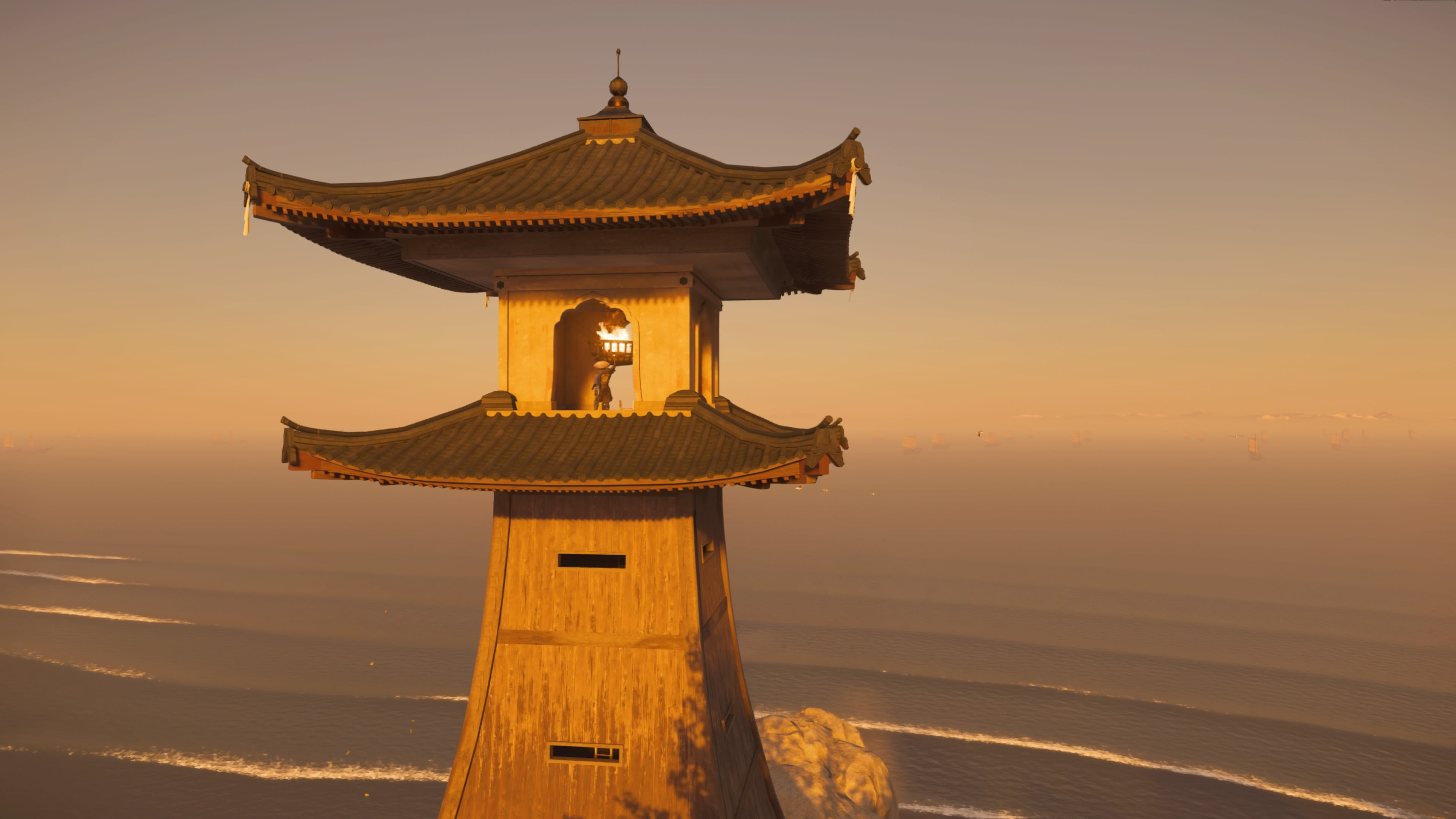 A lighthouse in Ghost of Tsushima