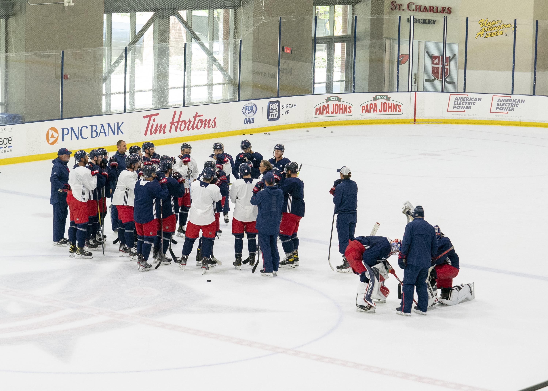 NHL: JUL 15 Blue Jackets Training Camp