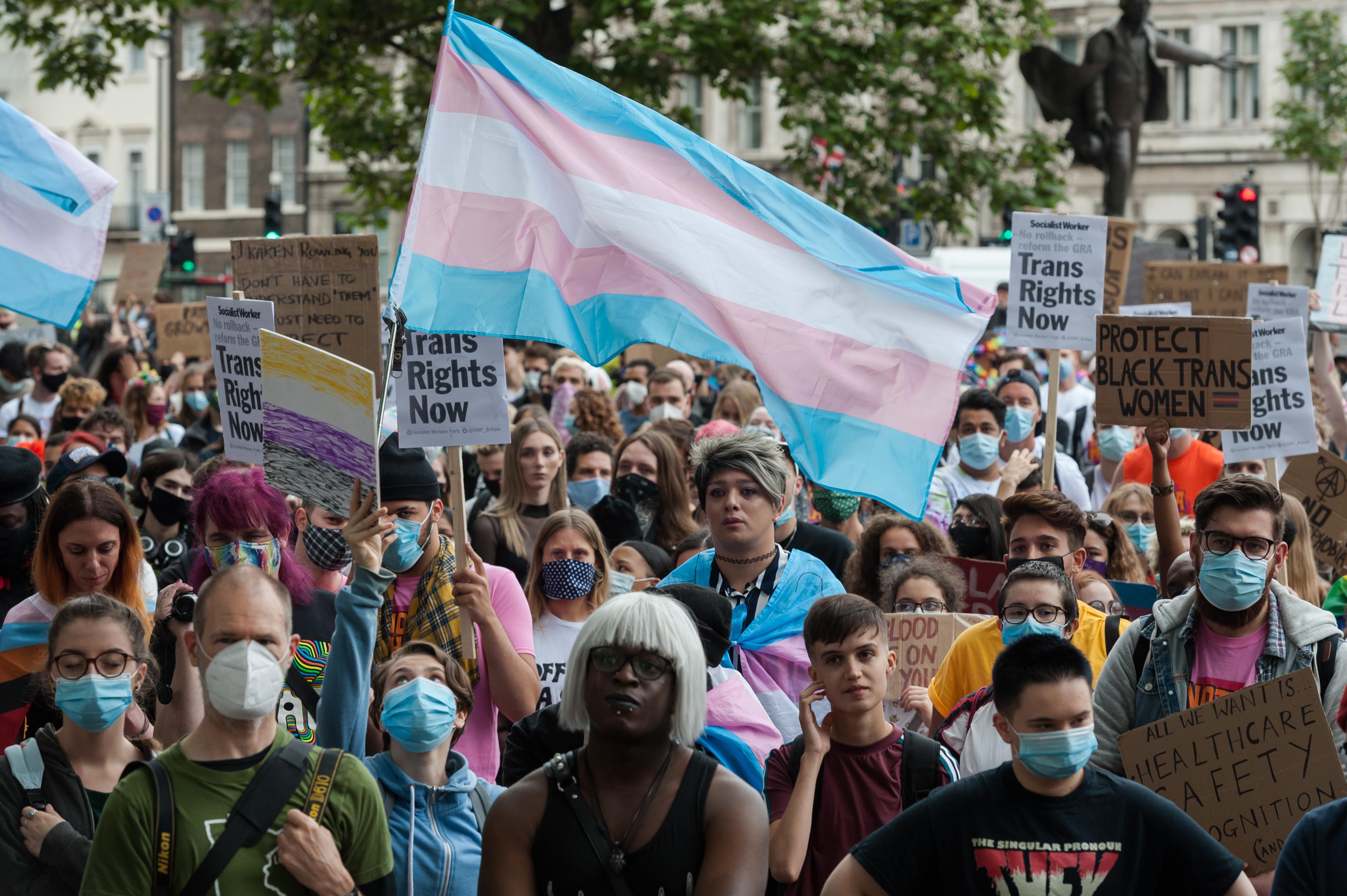 Transgender People Protest In London