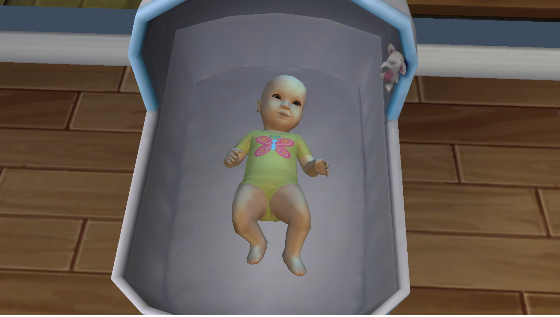 The Sims 4 - a baby in her crib